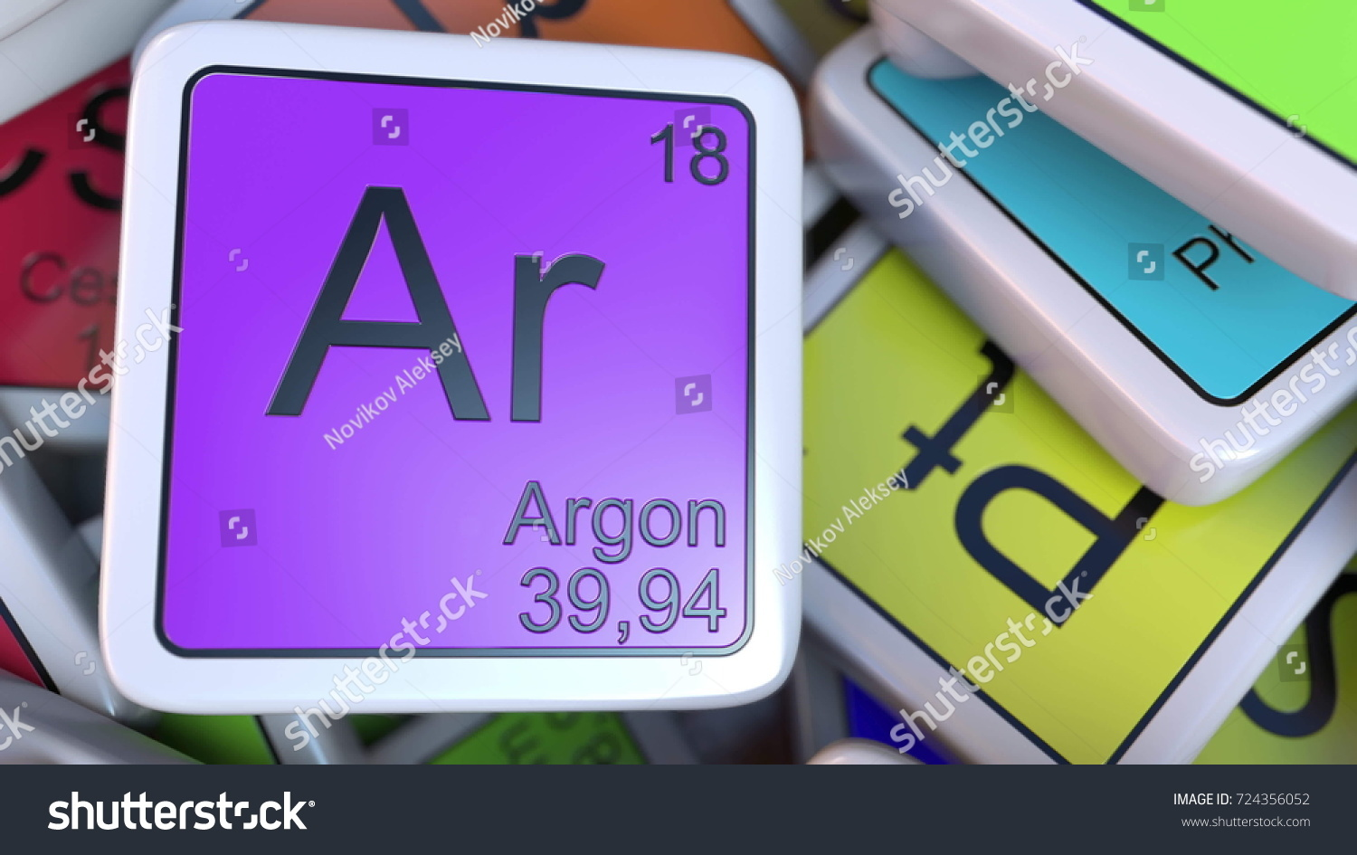 Argon block on pile periodic table stock illustration 724356052 argon block on the pile of periodic table of the chemical elements blocks chemistry related gamestrikefo Choice Image