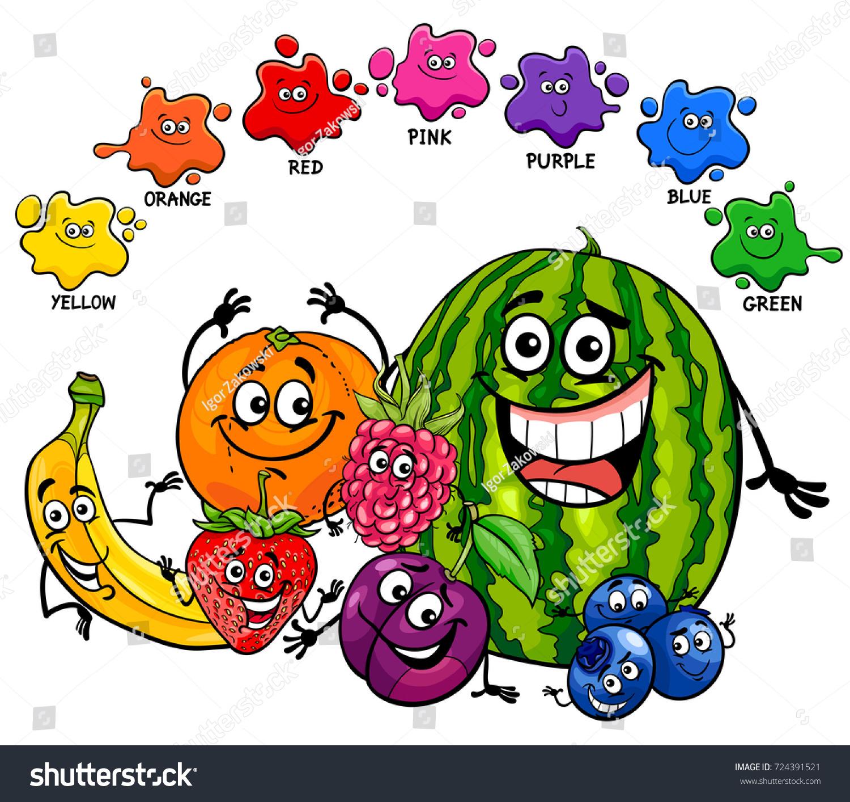 Cartoon Illustration Primary Basic Colors Educational Stock ...