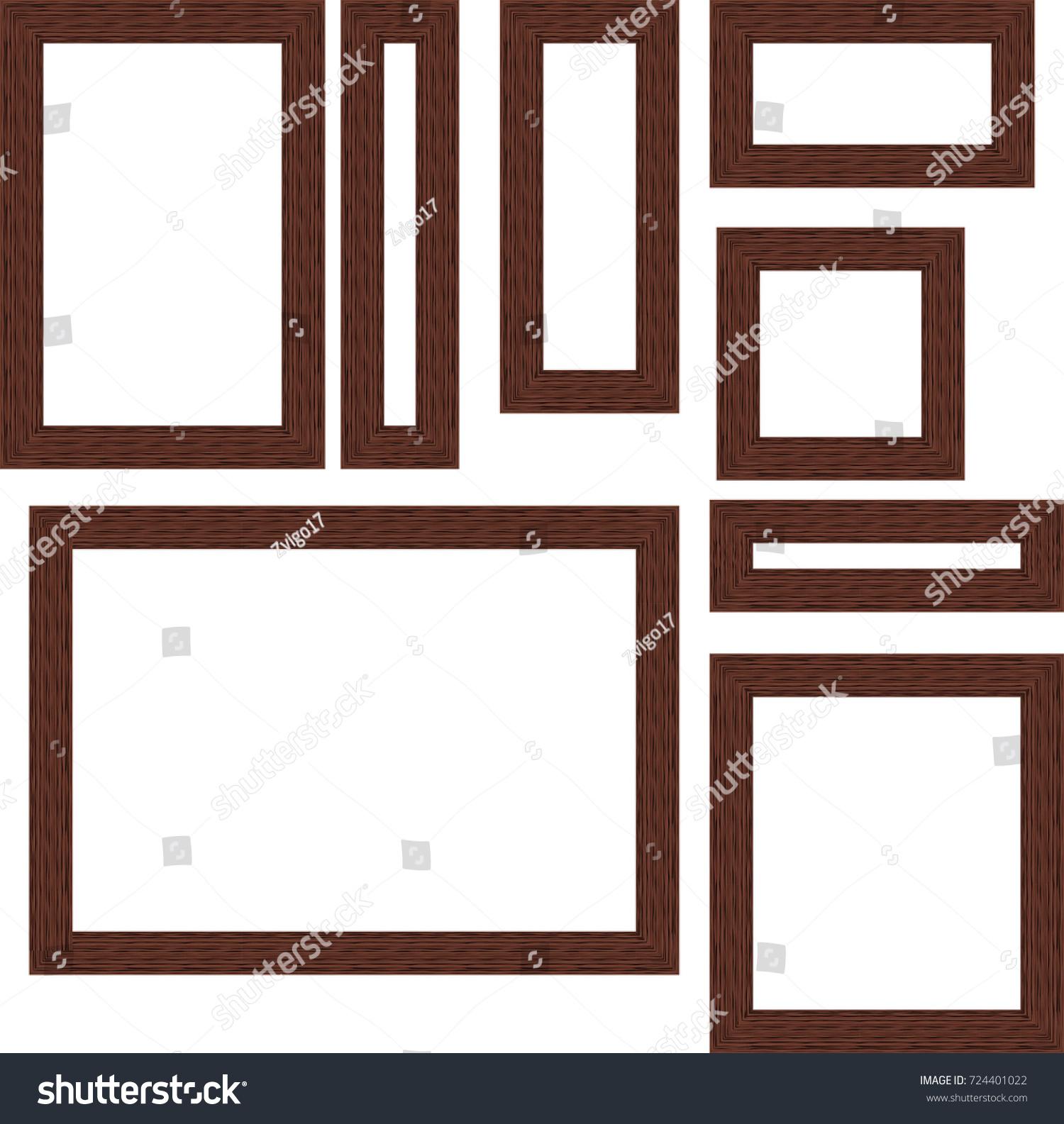 Square Set Frames Transparent Background Vector Stock Vector ...