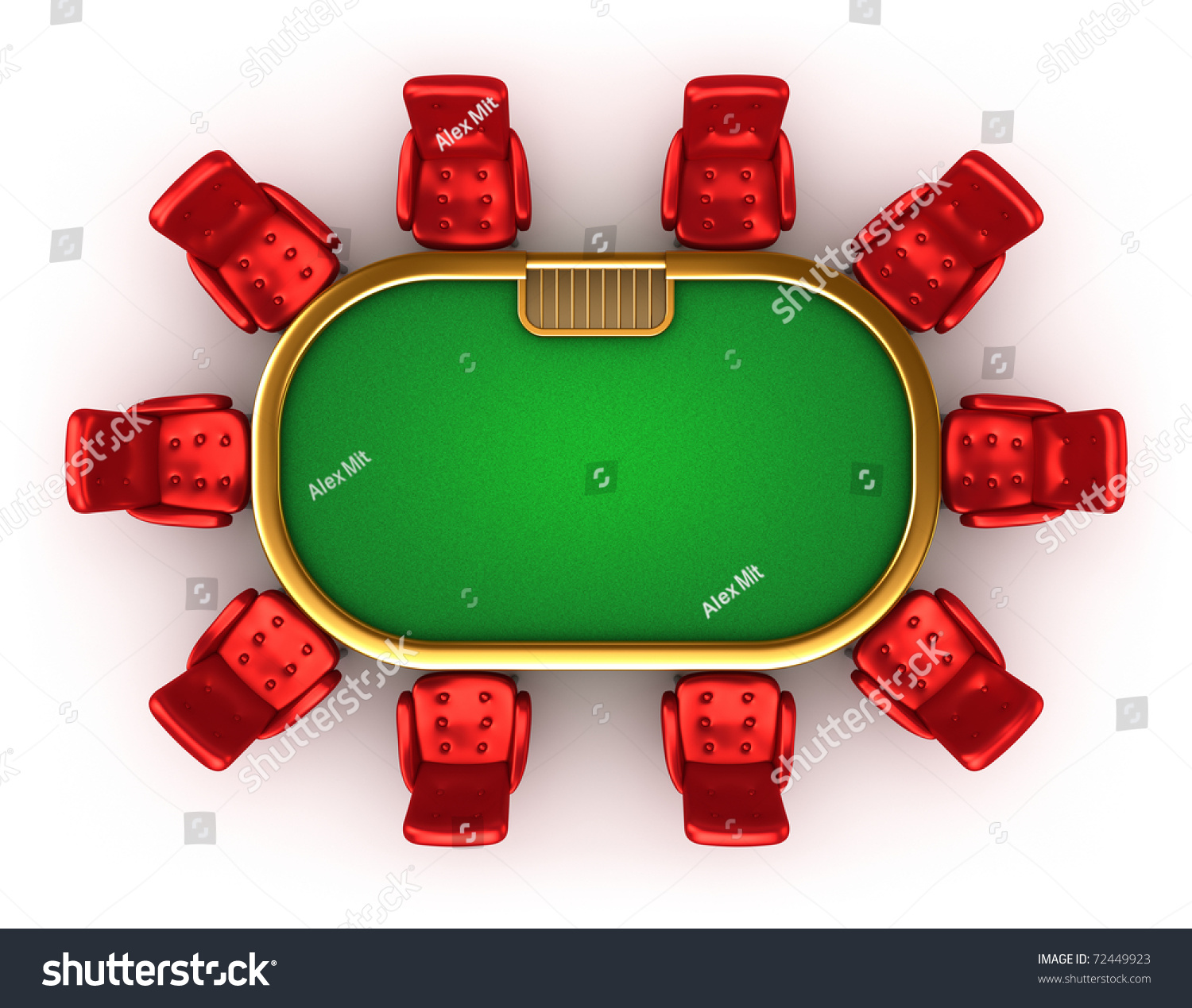 Table and chairs top view - Poker Table With Chairs Top View Isolated On White