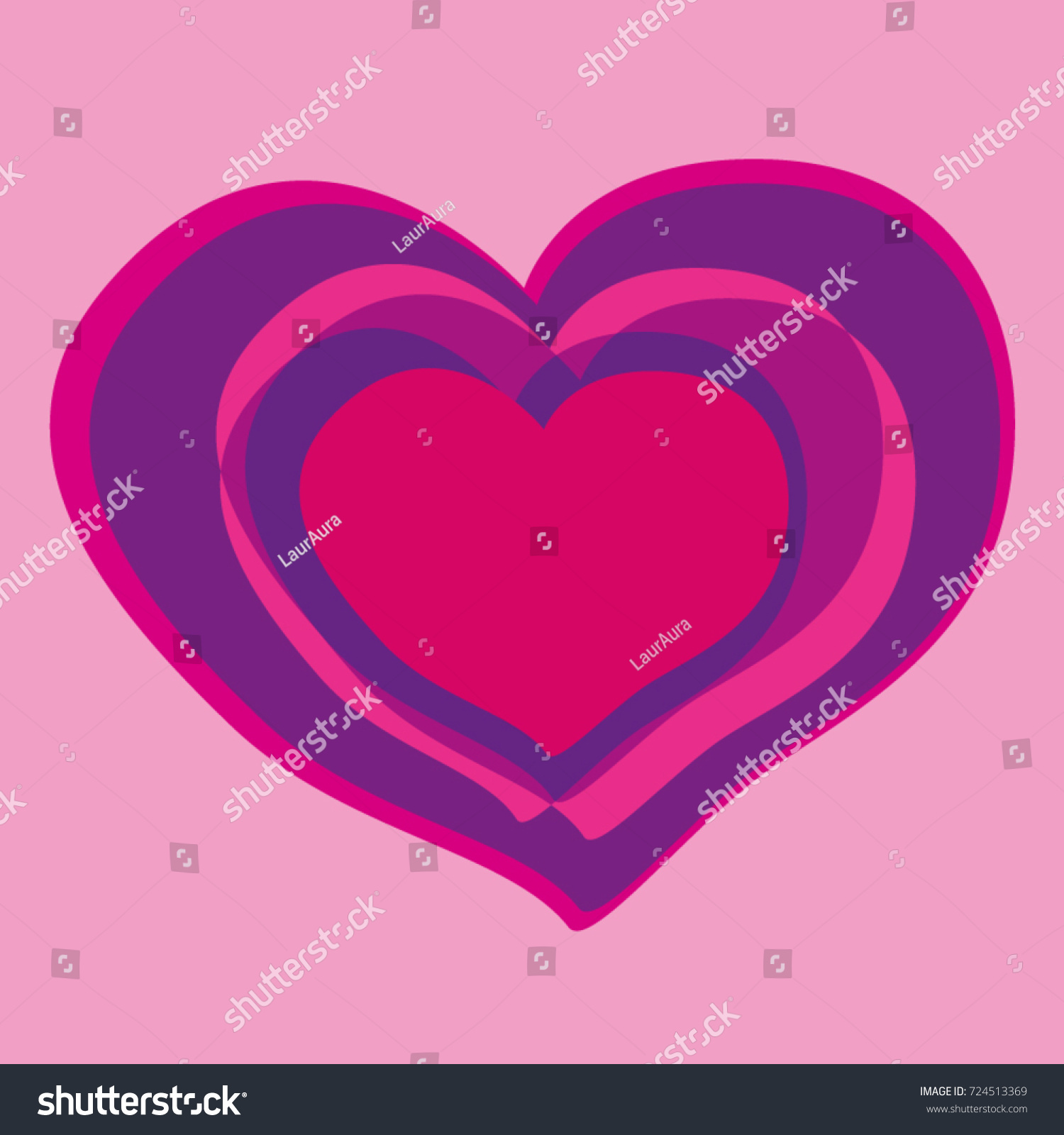 Illustrated heart pink color symbol love stock vector 724513369 illustrated heart pink color symbol of love biocorpaavc Images