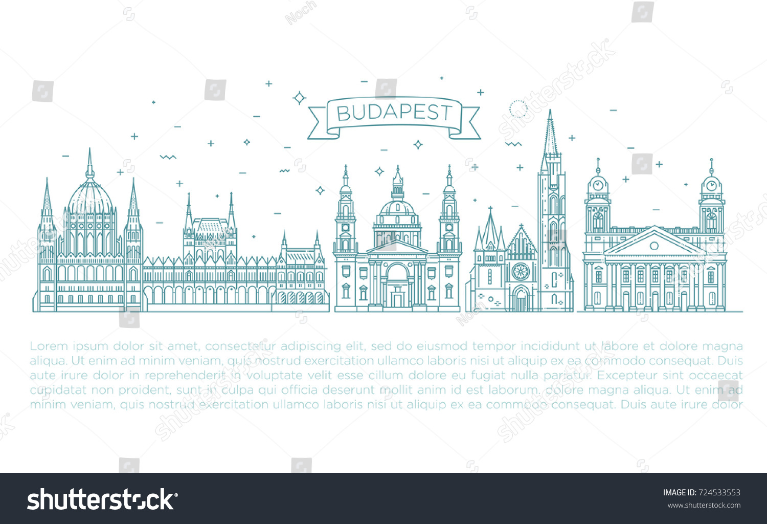 Hungary Architecture Hungarian Famous Landmark Buildings Stock