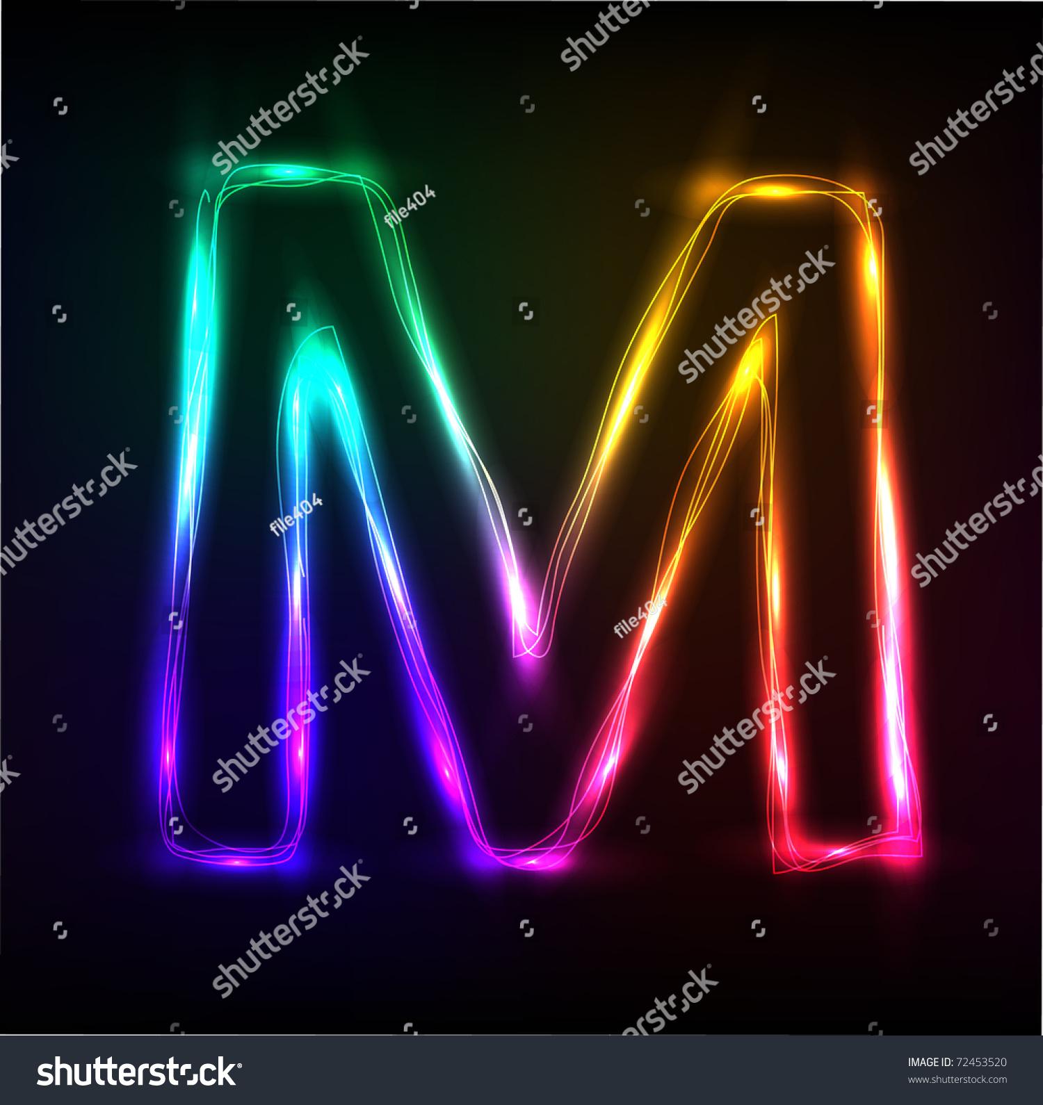 vector alphabet neon letter m stock vector 72453520 disco clip art black and white disco clip art black and white