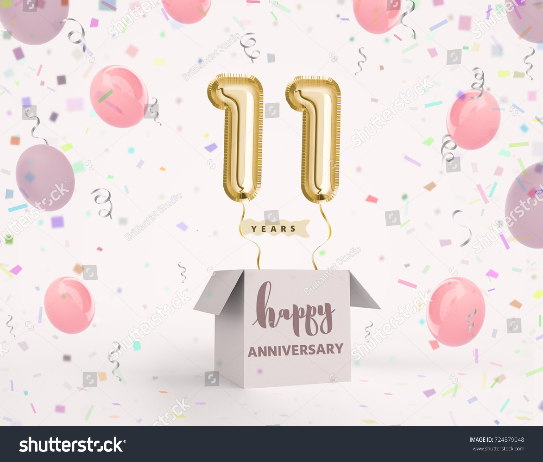 11 Years Anniversary Happy Birthday Joy Stock Illustration ...