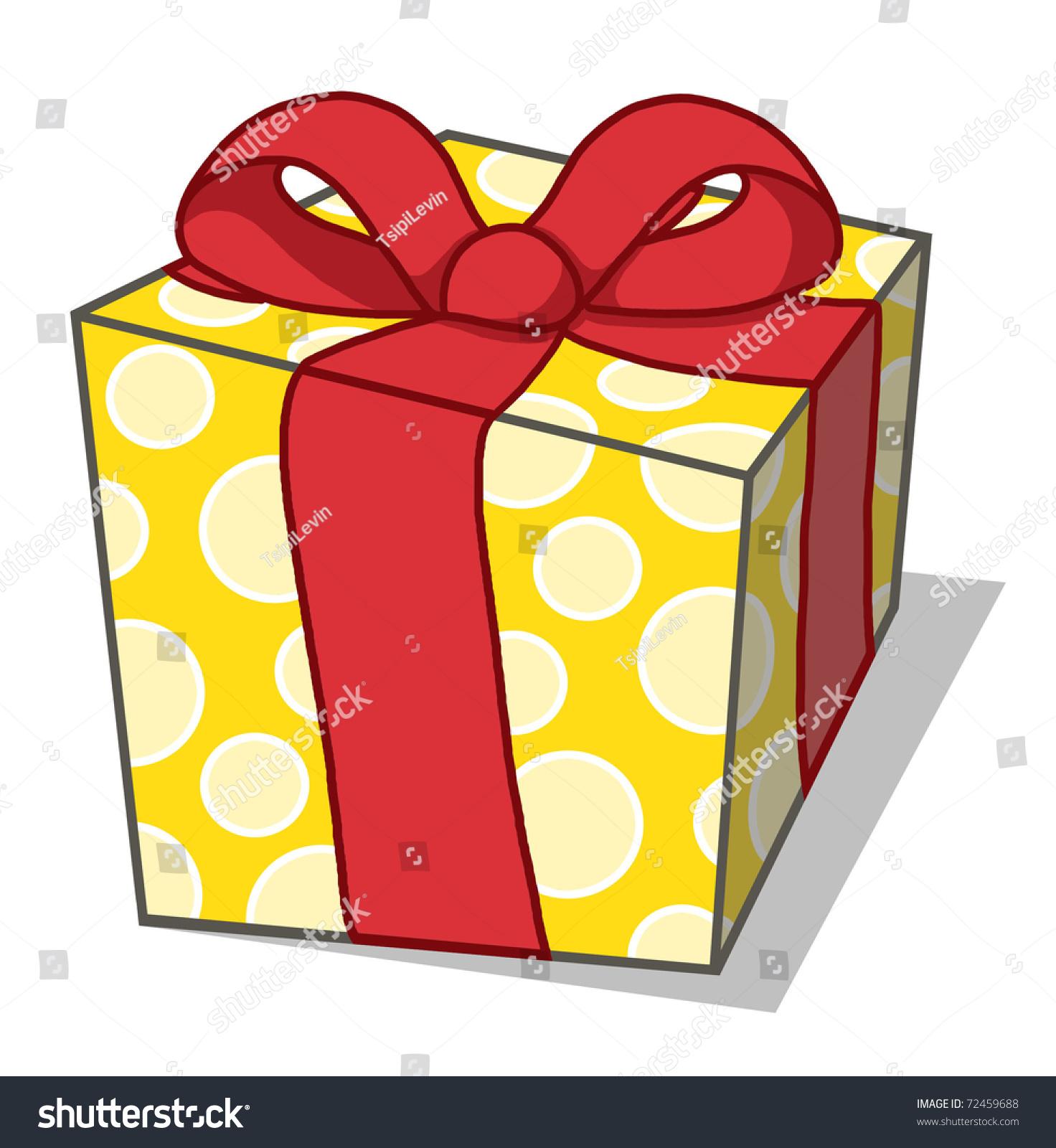 Коробка с подарком нарисованная 71