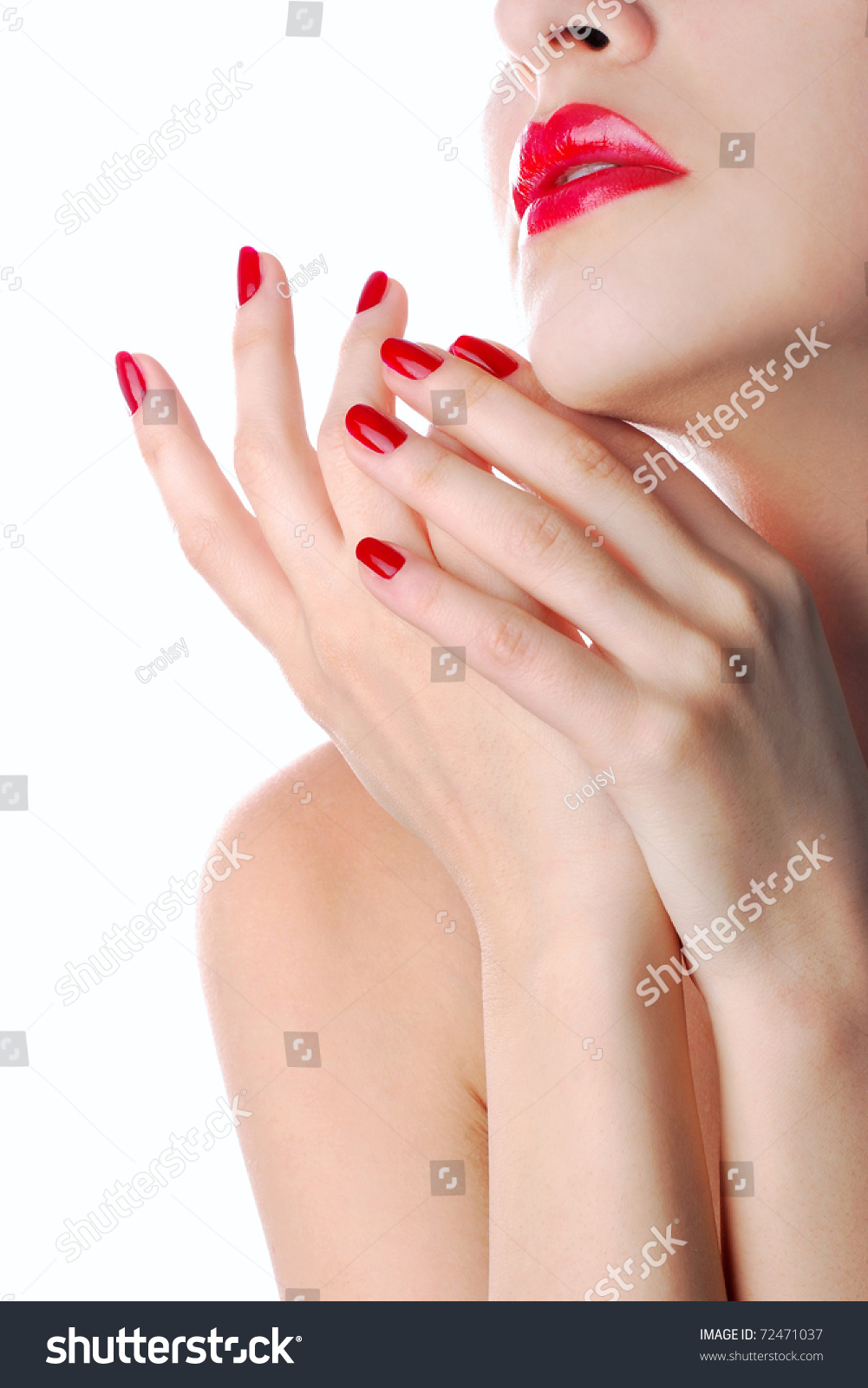Lost fetish french manicure nail picture