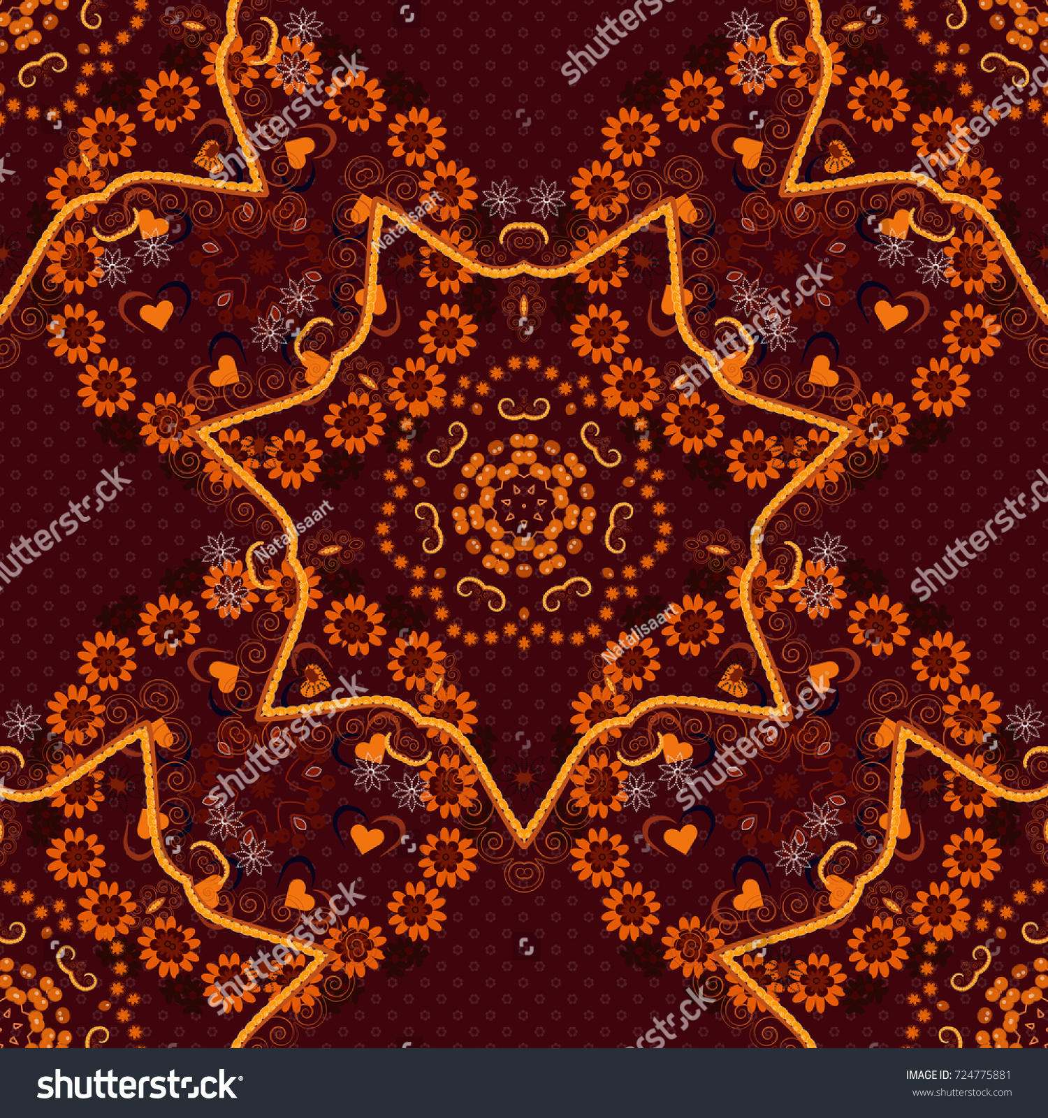 Oriental Mystic Alchemy Pattern Coloring Page Stock Illustration ...