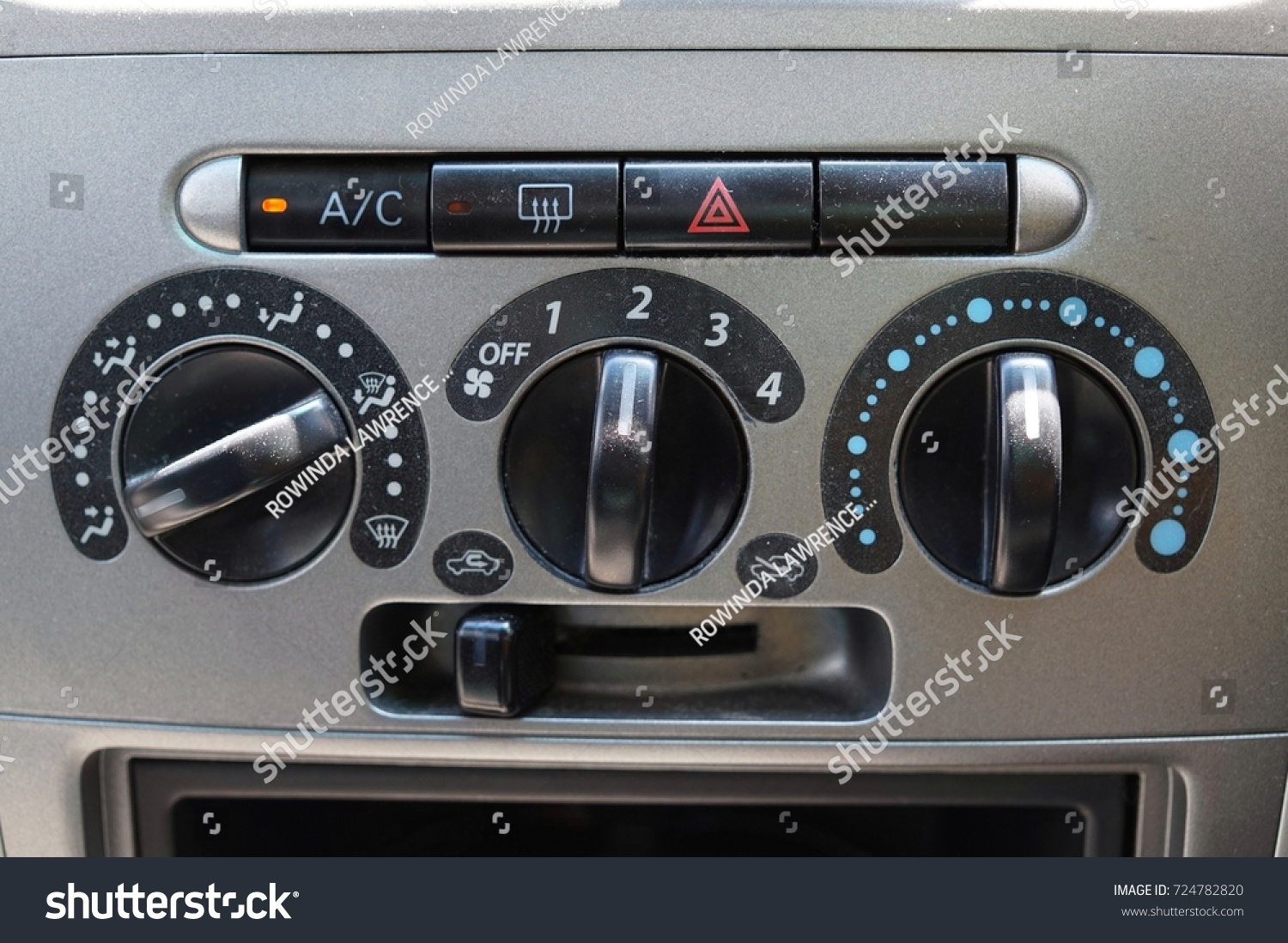 Closeup View Car Airconditioning Switch Panel Stock Photo Edit Now Land Rover Defender Air Conditioning A Of
