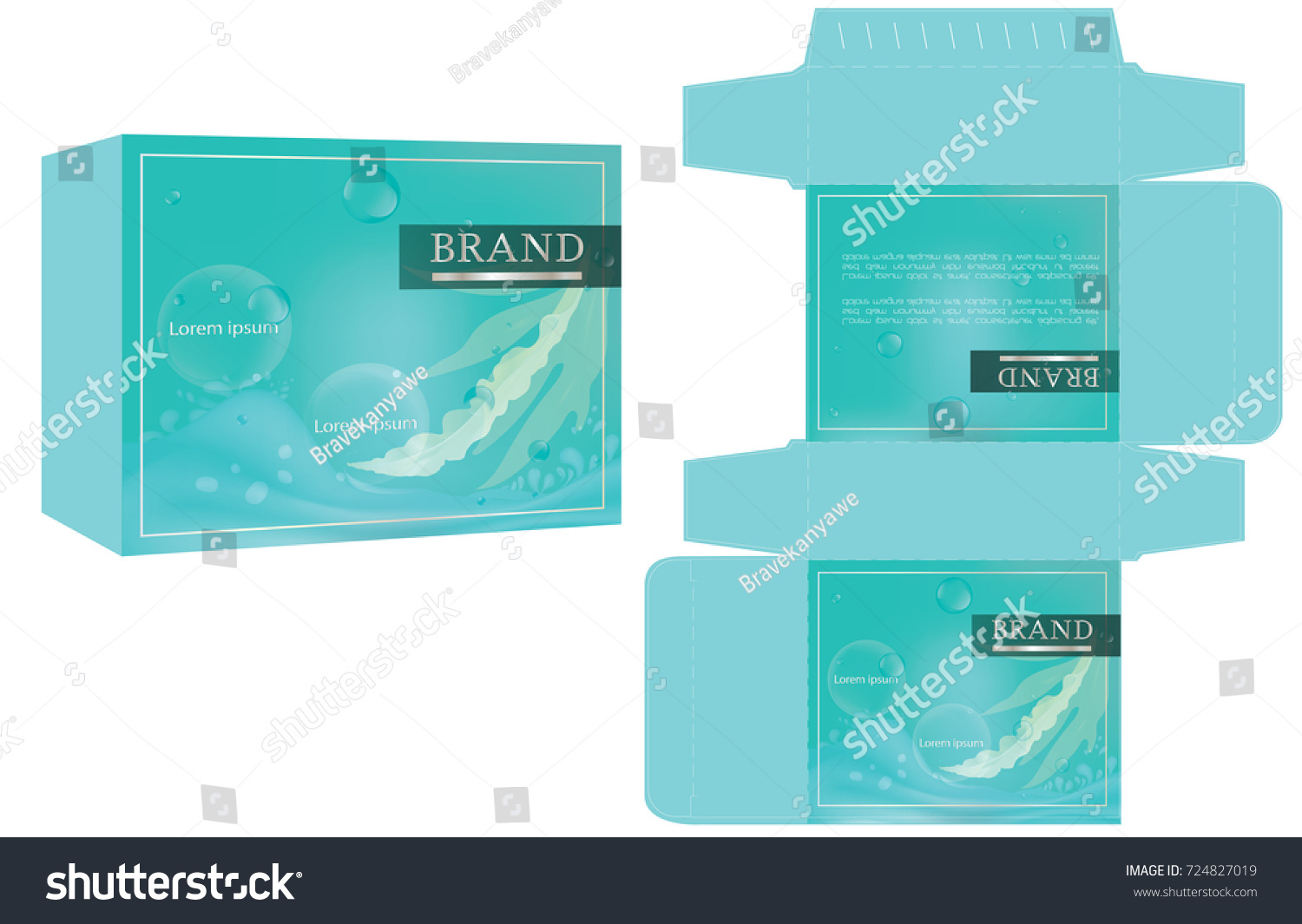 packaging design natural concept soap box stock vector royalty free