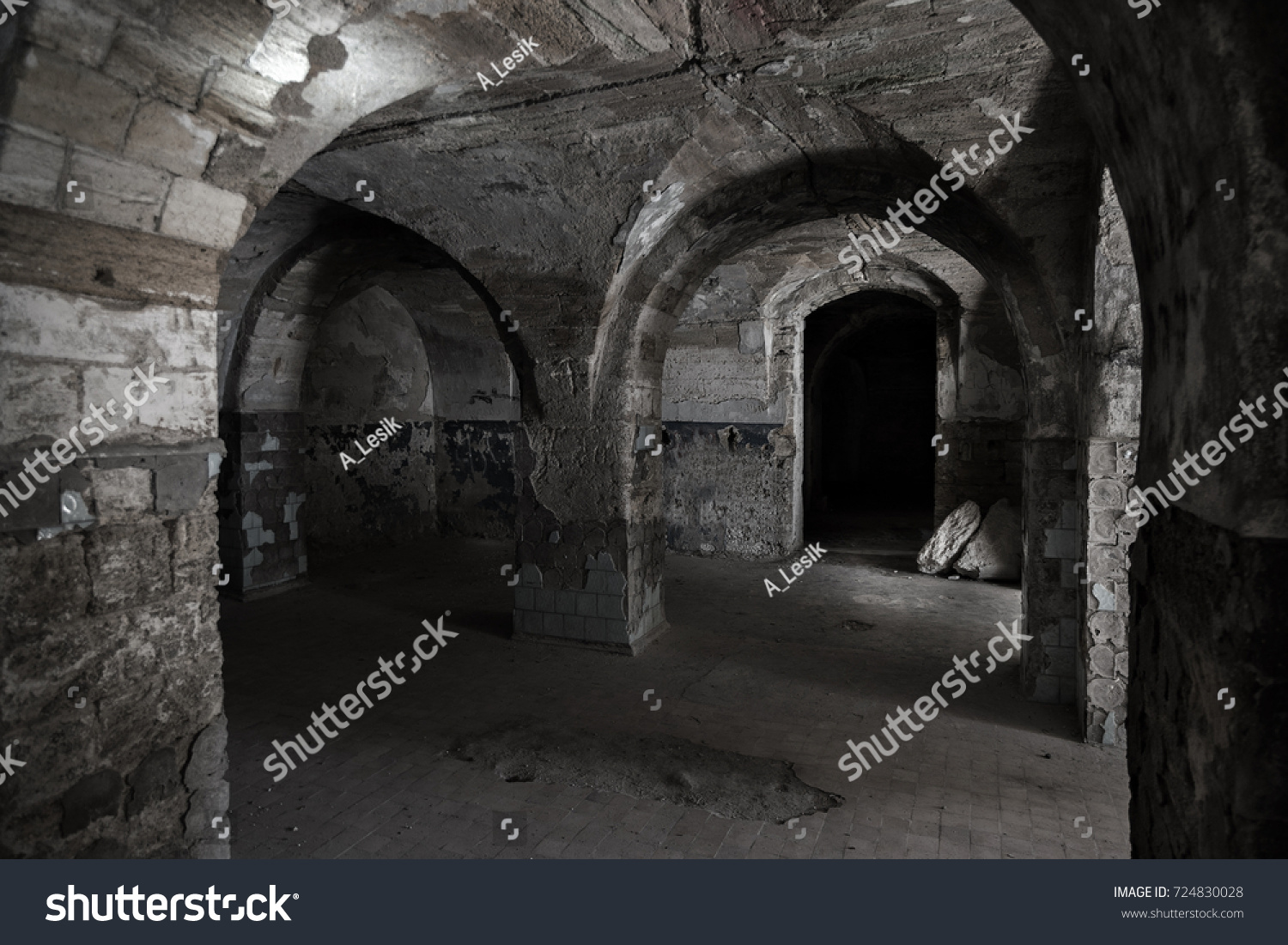 Old Abandoned Tunnel Underground Wine Cellar Stock Photo (Royalty Free) 724830028 - Shutterstock & Old Abandoned Tunnel Underground Wine Cellar Stock Photo (Royalty ...