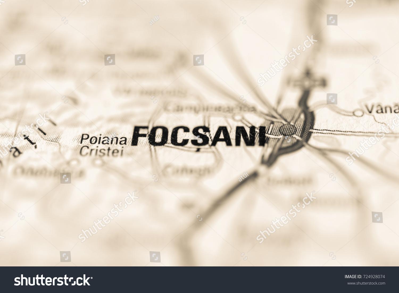 Focsani On Map Stock Photo Shutterstock - Focşani map