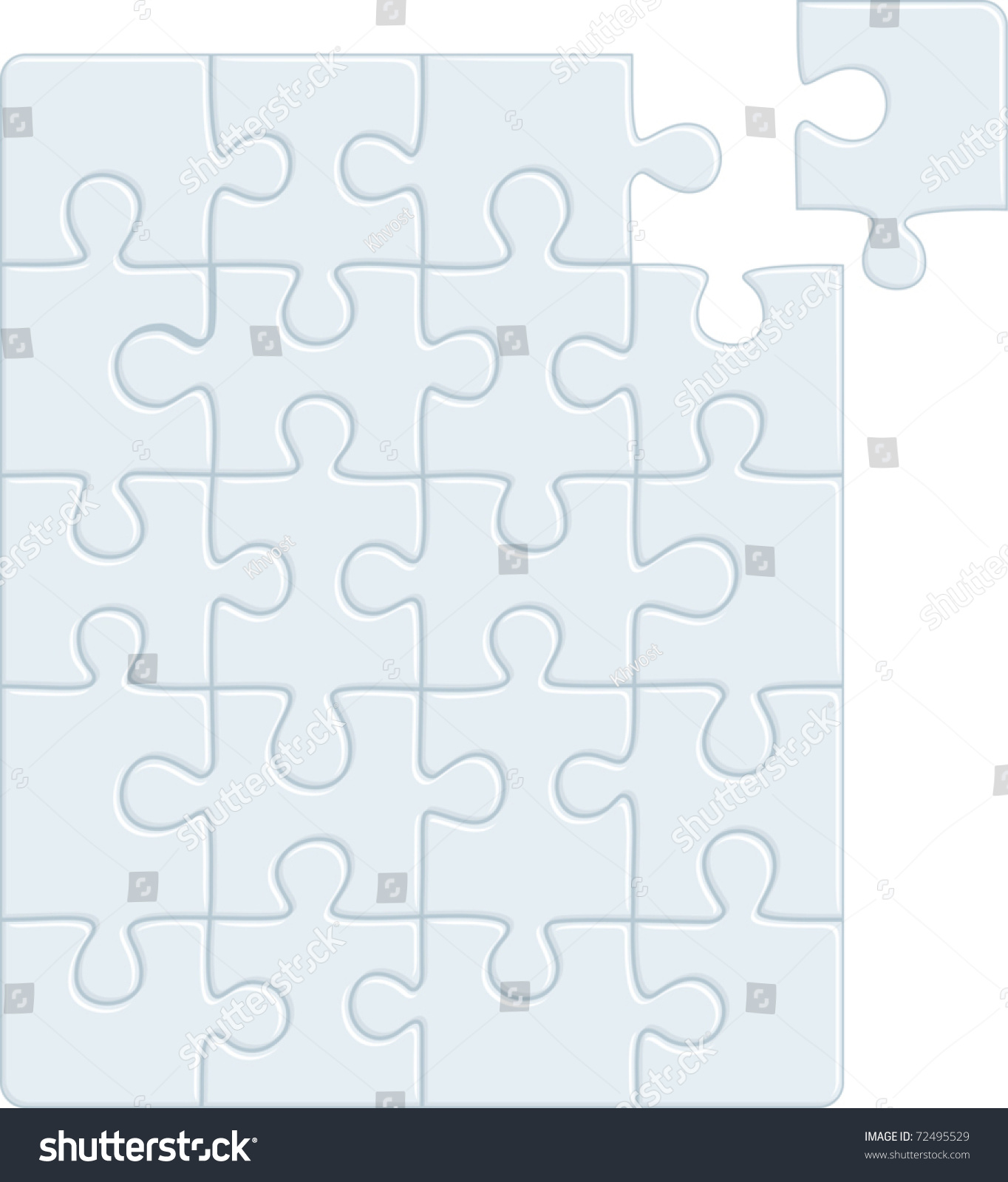Puzzle Pattern Removable Pieces Vector Illustration Stock ...