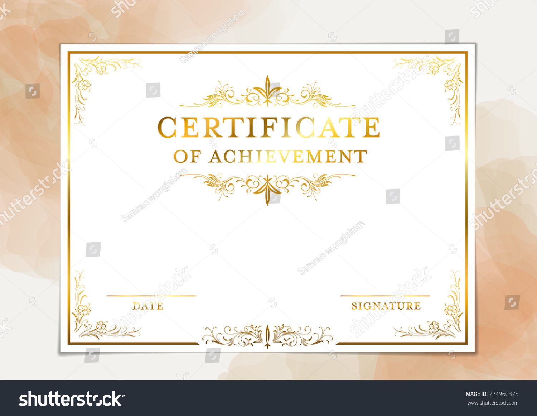 Certificate template achievement graduation completion stock certificate template for achievement graduation completion yadclub Image collections