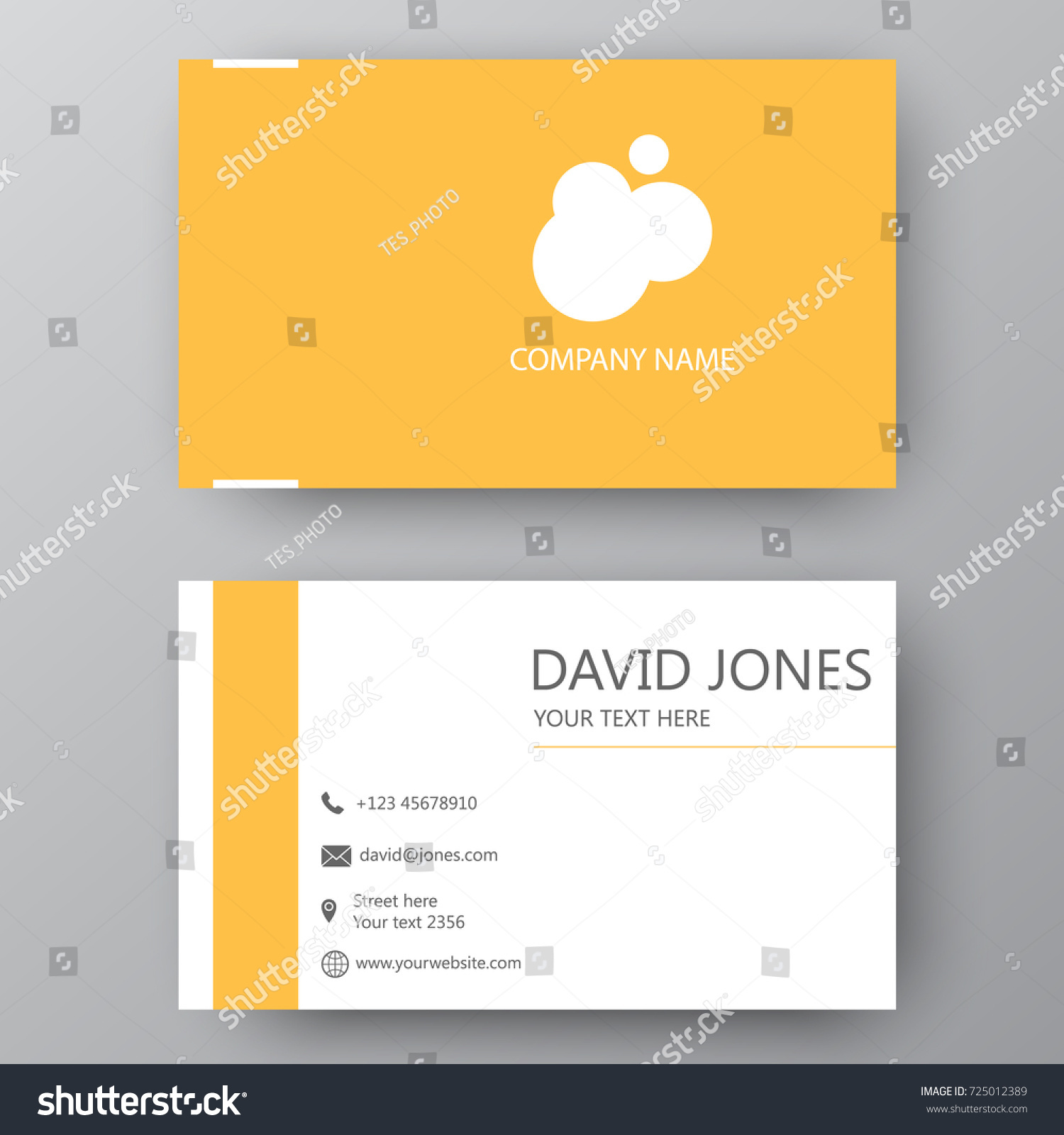 Vector business card template visiting card stock vector 725012389 vector business card template visiting card for business and personal use modern presentation card magicingreecefo Choice Image