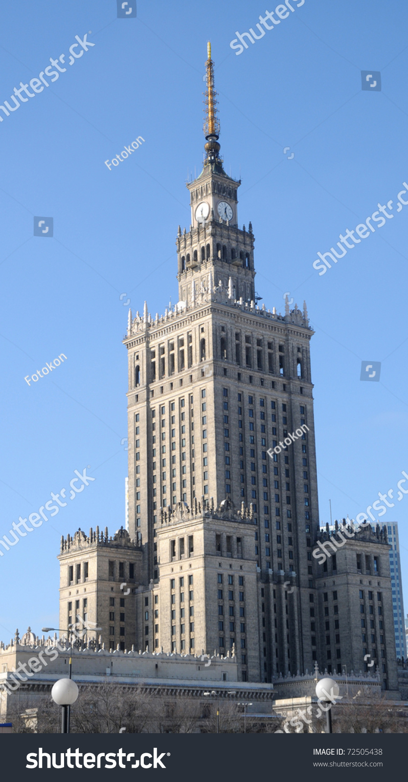 most famous building warsaw poland palace stock photo