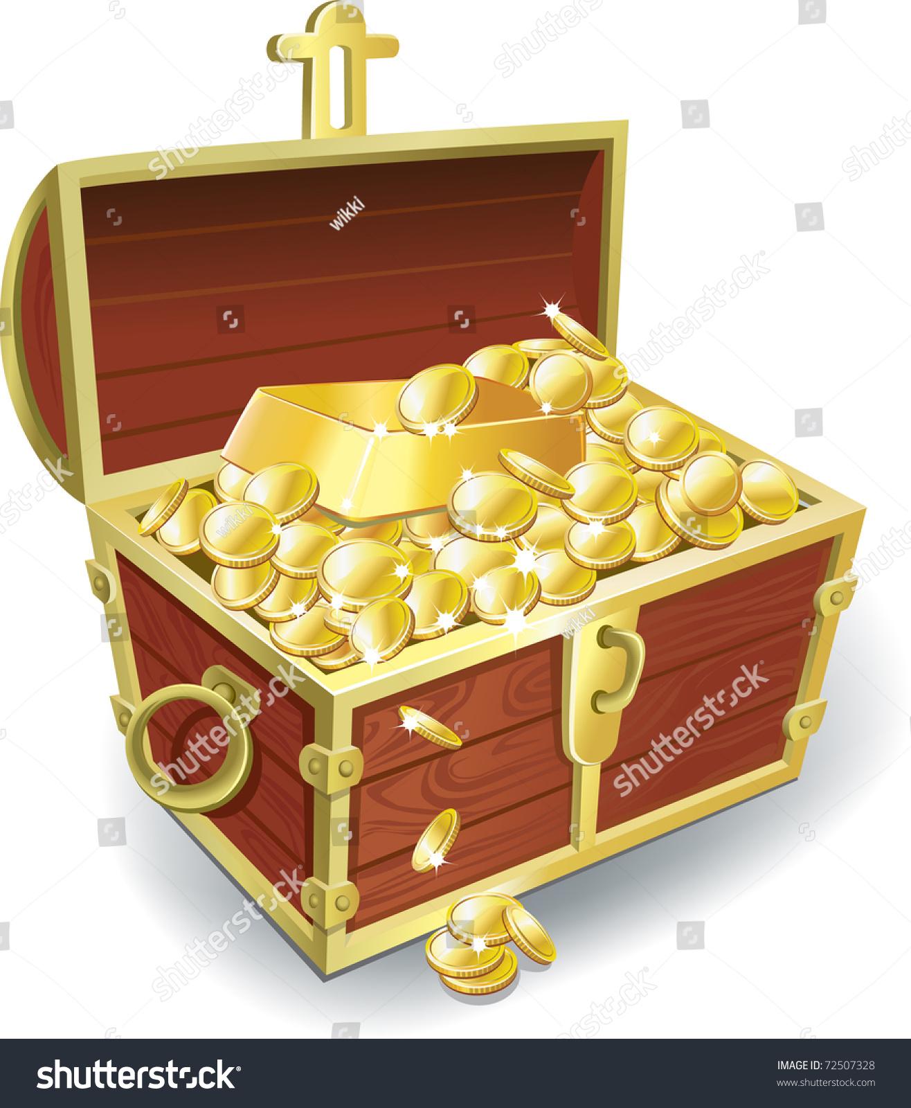 treasure chest stock vector 72507328 shutterstock