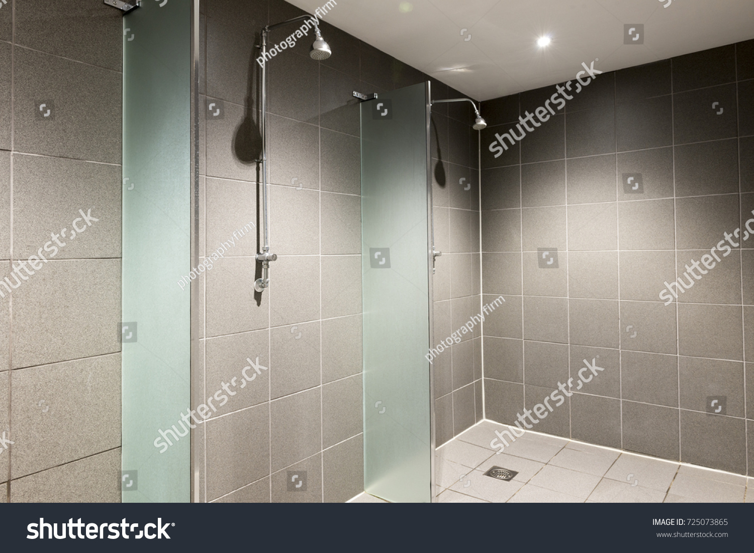 Empty Dry Shower Area Fitness Club Stock Photo (Edit Now) 725073865 ...