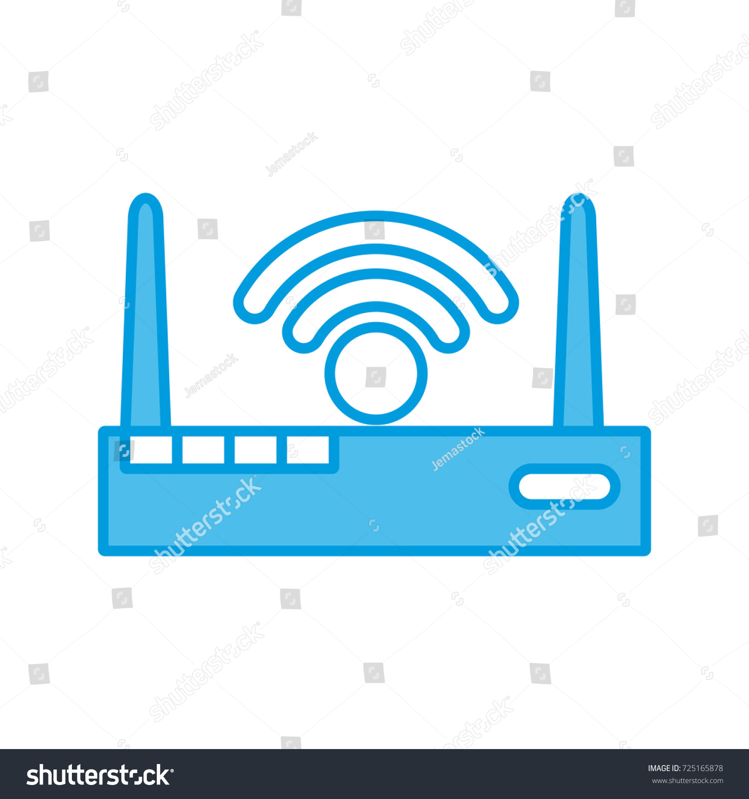 Wifi Internet Symbol Stock Vector 725165878 Shutterstock