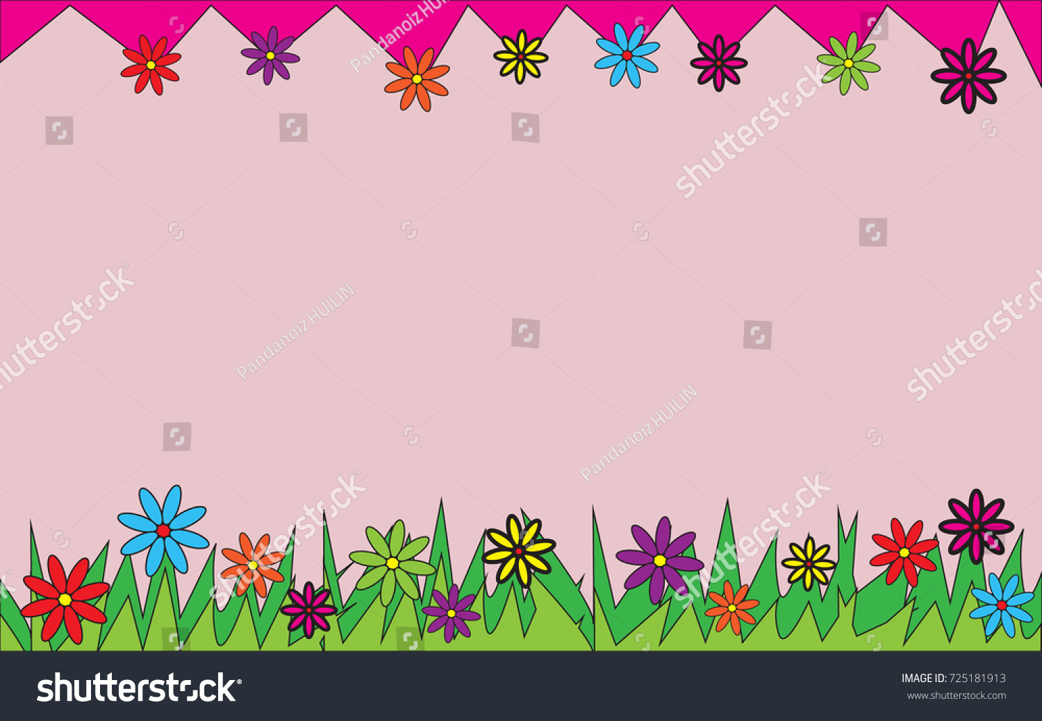 Simple Flower Wallpapercolorful Backgroundvector Stock Vector 725181913