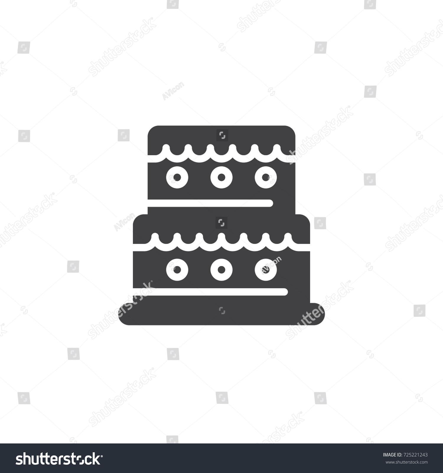 Birthday cake icon vector filled flat stock vector 725221243 birthday cake icon vector filled flat sign solid pictogram isolated on white symbol buycottarizona
