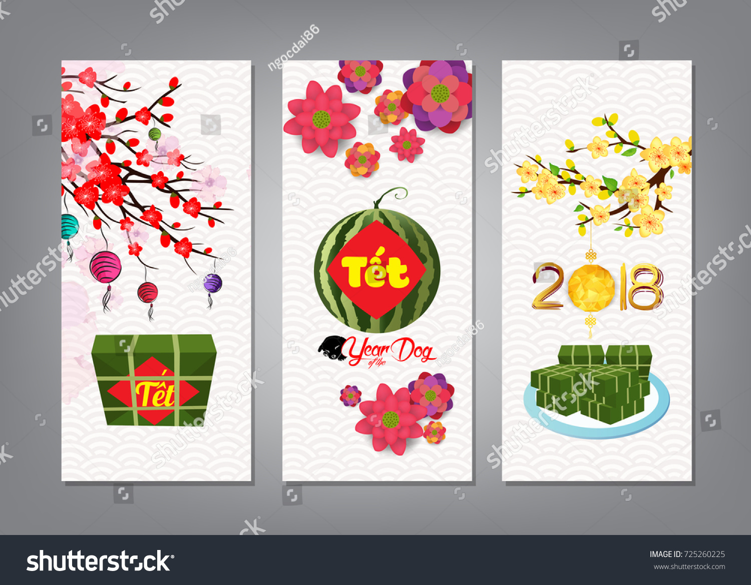 Cooked square glutinous rice cake blossom stock vector royalty free cooked square glutinous rice cake and blossom banner vietnamese new year translation m4hsunfo