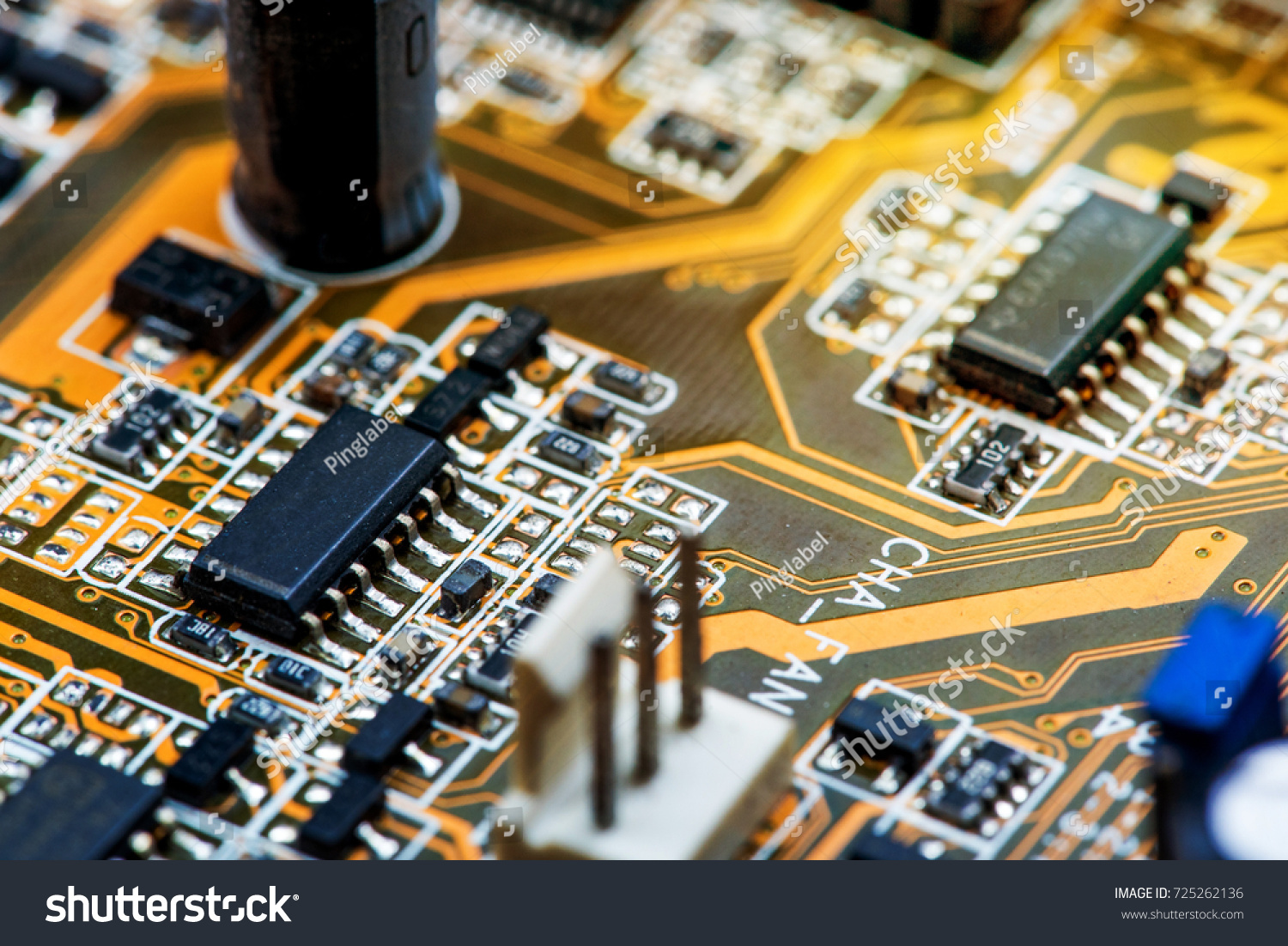 Abstractclose Circuits Electronic On Mainboard Computer Stock Photo Repairing Circuit Board Royalty Free Image Up Of Technology Background Logic