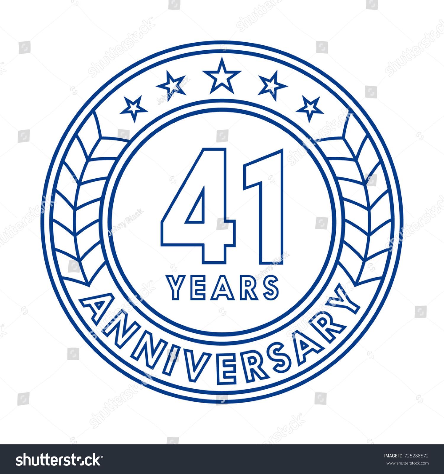 Years anniversary logo template stock vector
