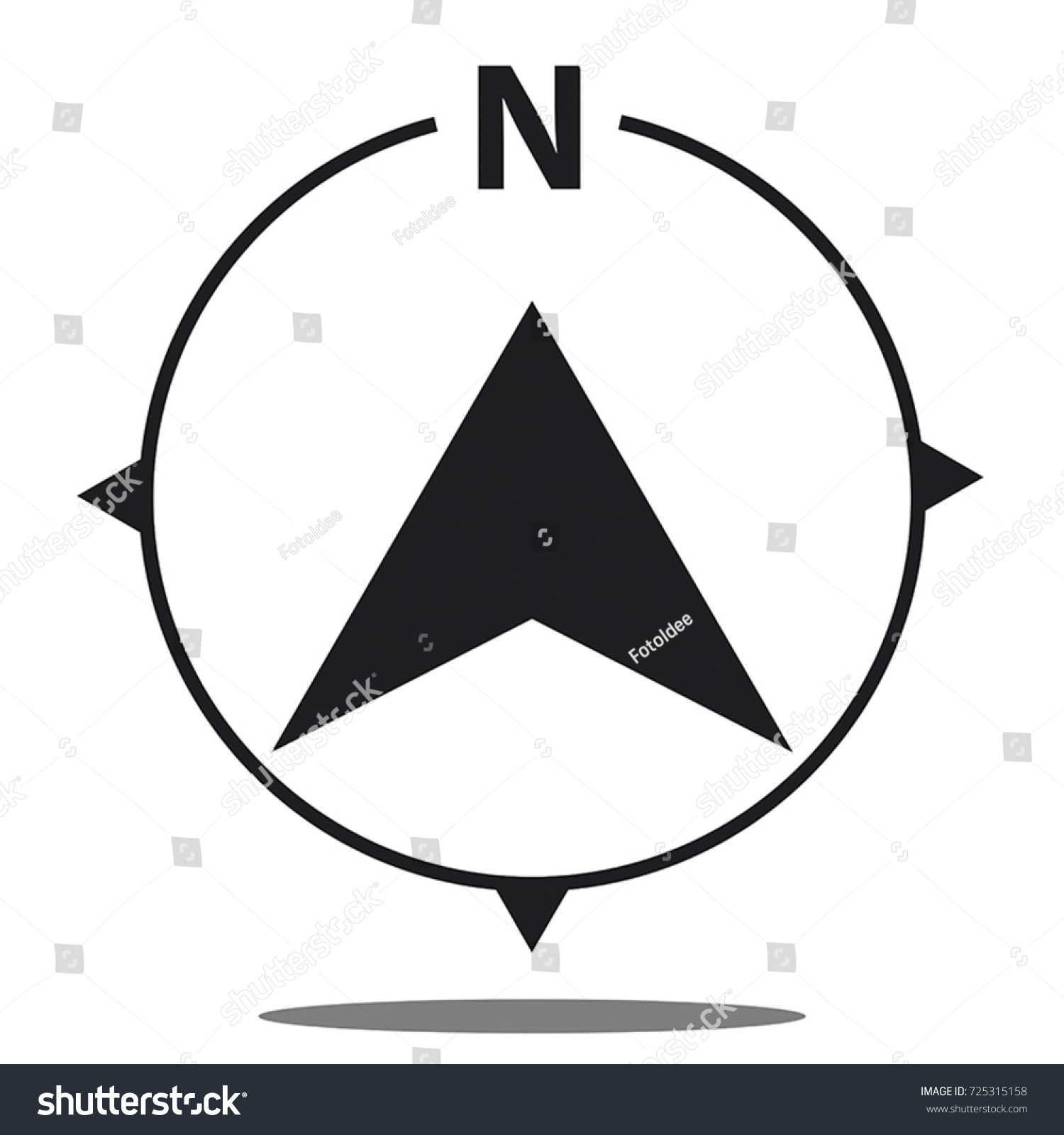 north direction compass icon vector graphic stock vector royalty
