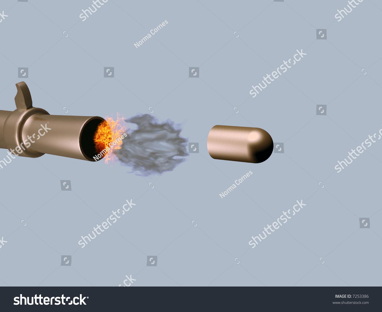 bullet being fired gun stock illustration shutterstock a bullet being fired from a gun