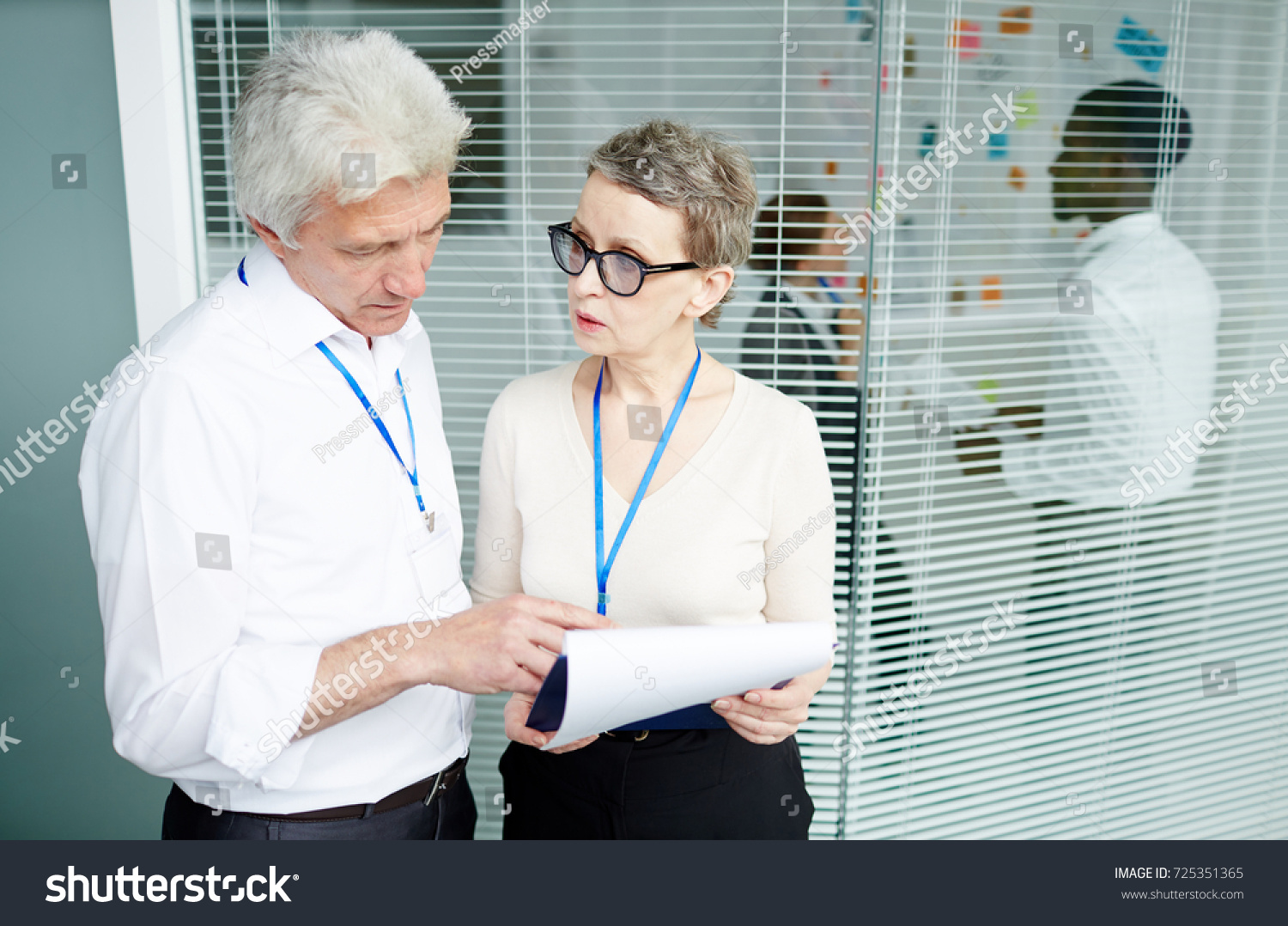 Mature Forensic Examiner Showing Results Criminalistic Stock Photo Edit Now 725351365