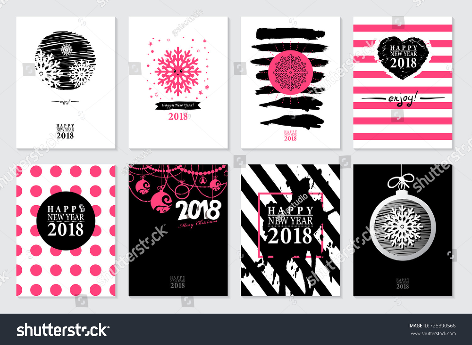 Set of 2018 Happy New Year Sale Banners Templates for on-line ...