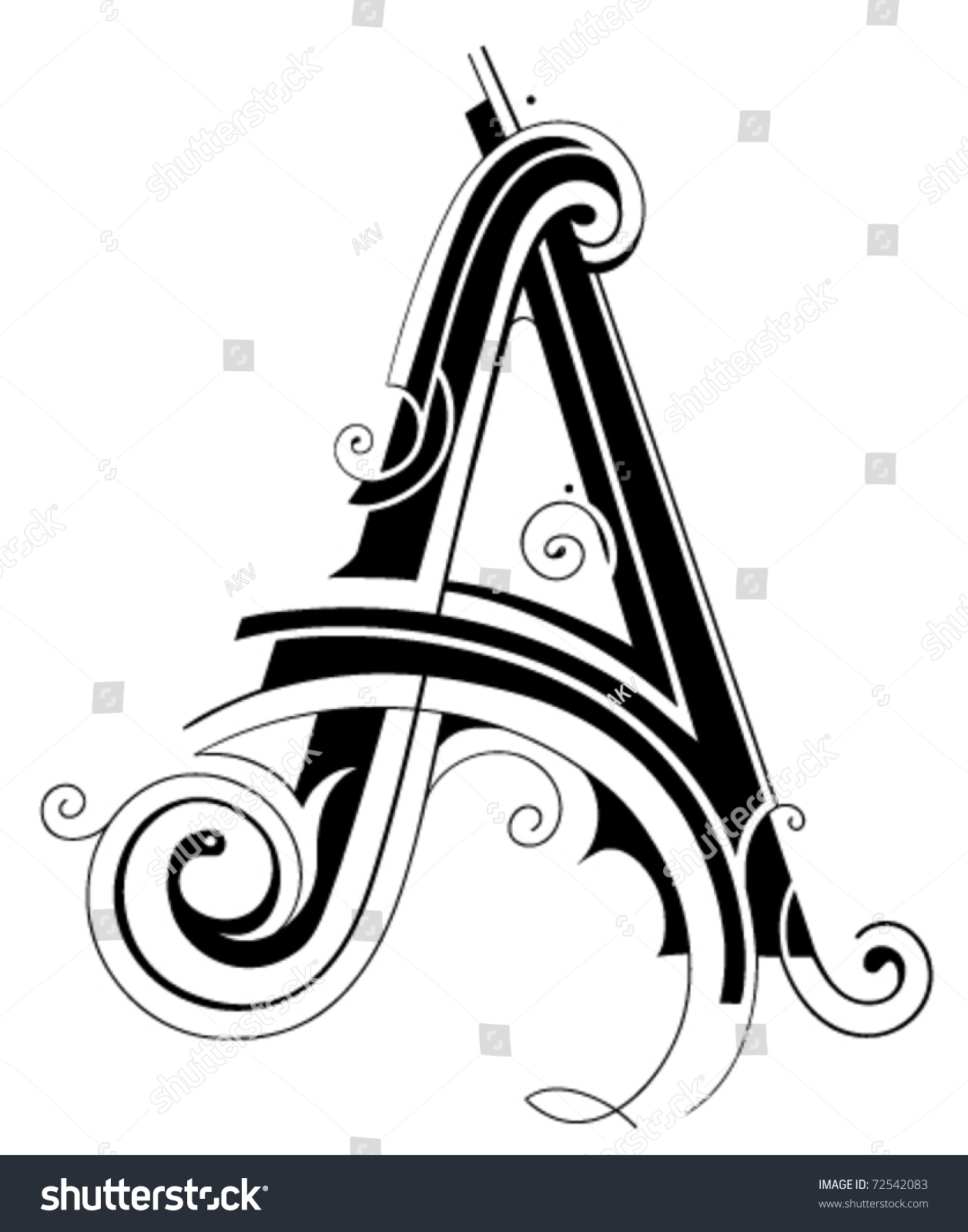decorative letter shape
