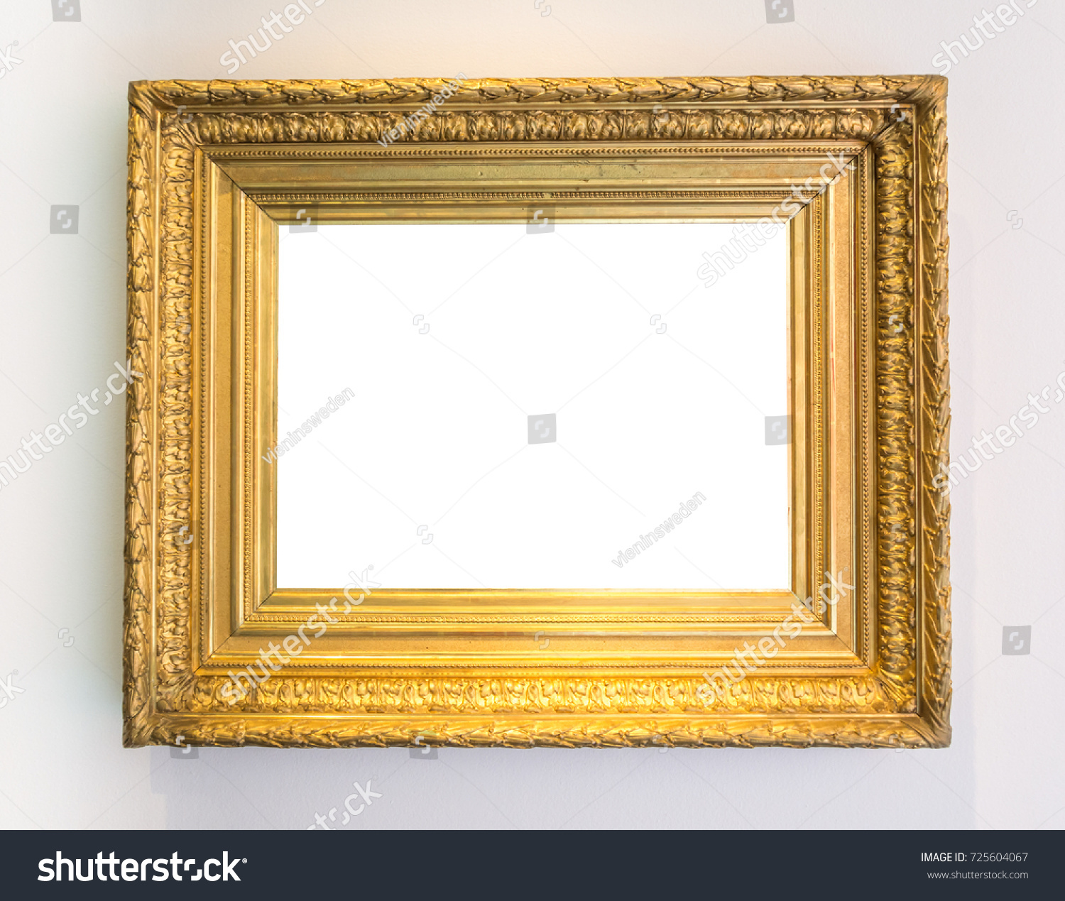 Gold Vintage Picture Frame Art Gallery Stock Photo (Edit Now ...