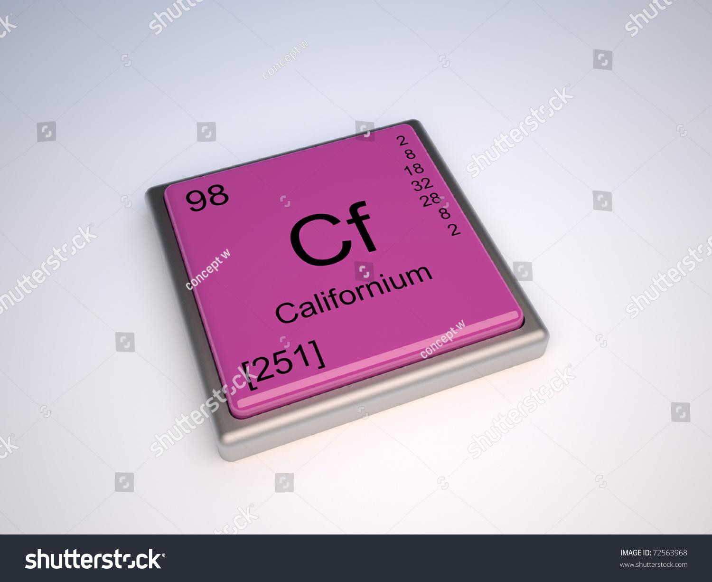 Californium chemical element periodic table symbol stock californium chemical element of the periodic table with symbol cf gamestrikefo Images