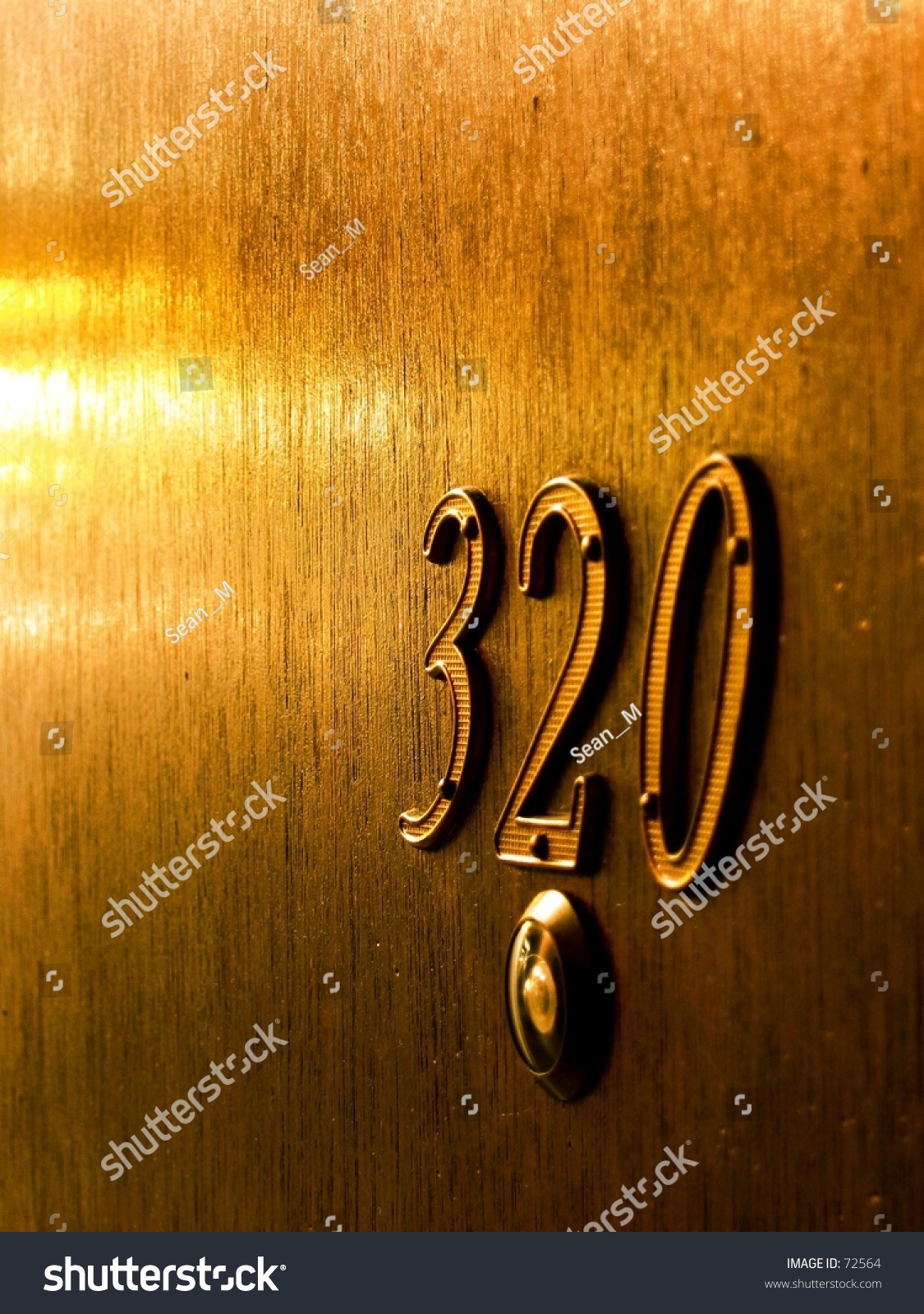 Apartment Door With The Number 320. Stock Photo 72564 : Shutterstock