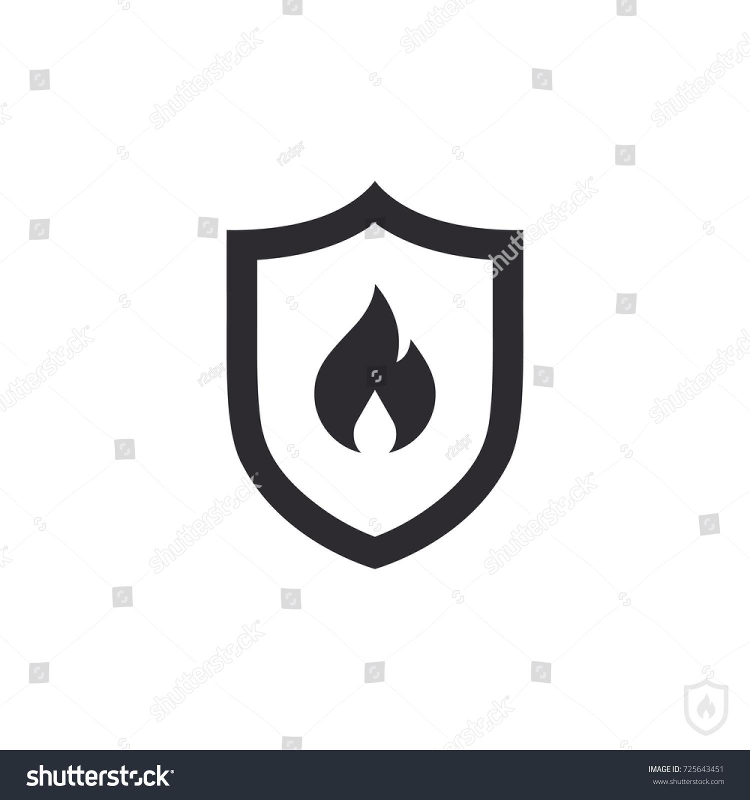 fire protection vector fire shield vector stock vector 725643451 rh shutterstock com shield vector art shield vector art