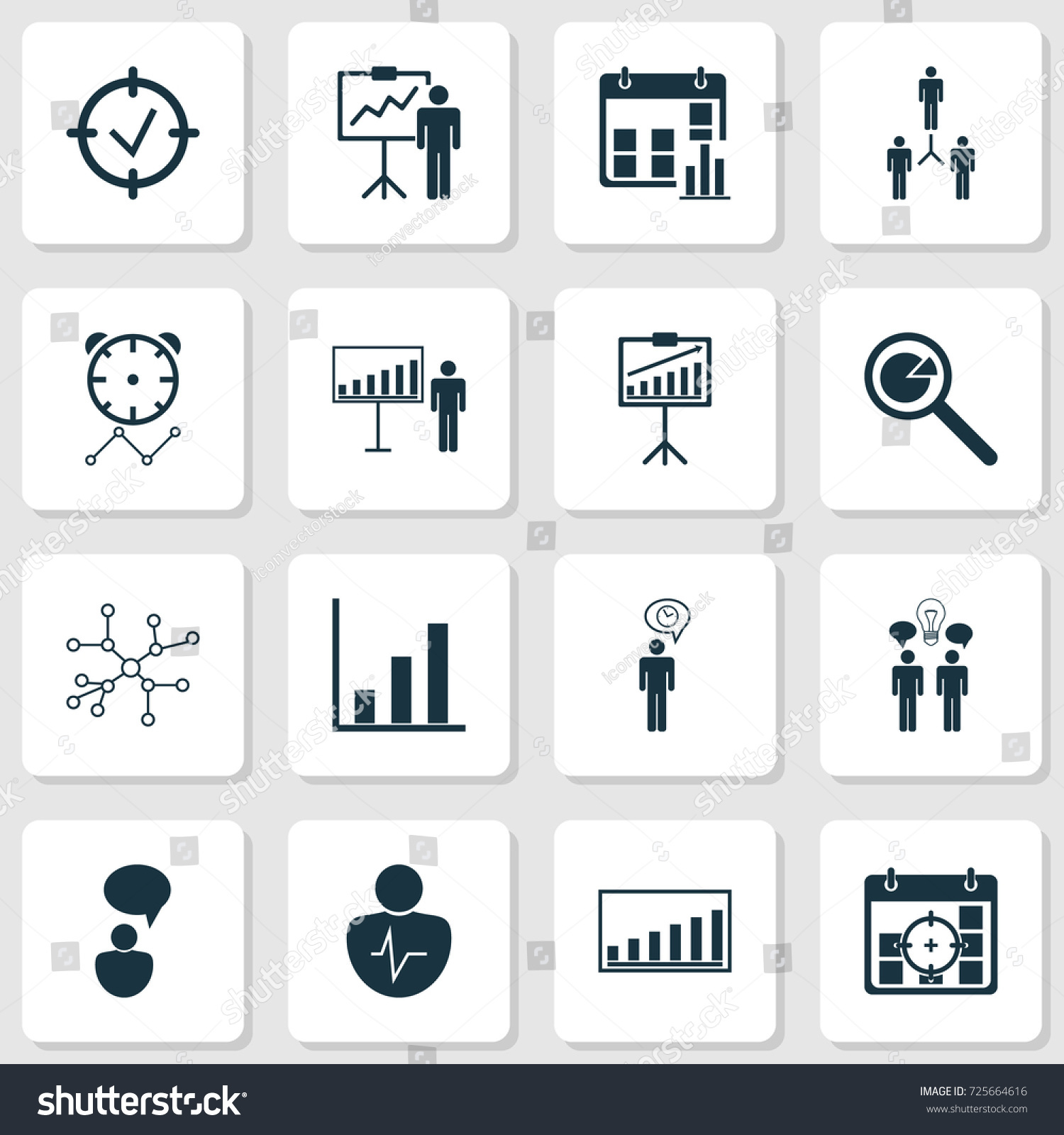 Board icons set collection personal character stock vector 725664616 collection of personal character special demonstration project targets and other buycottarizona Choice Image