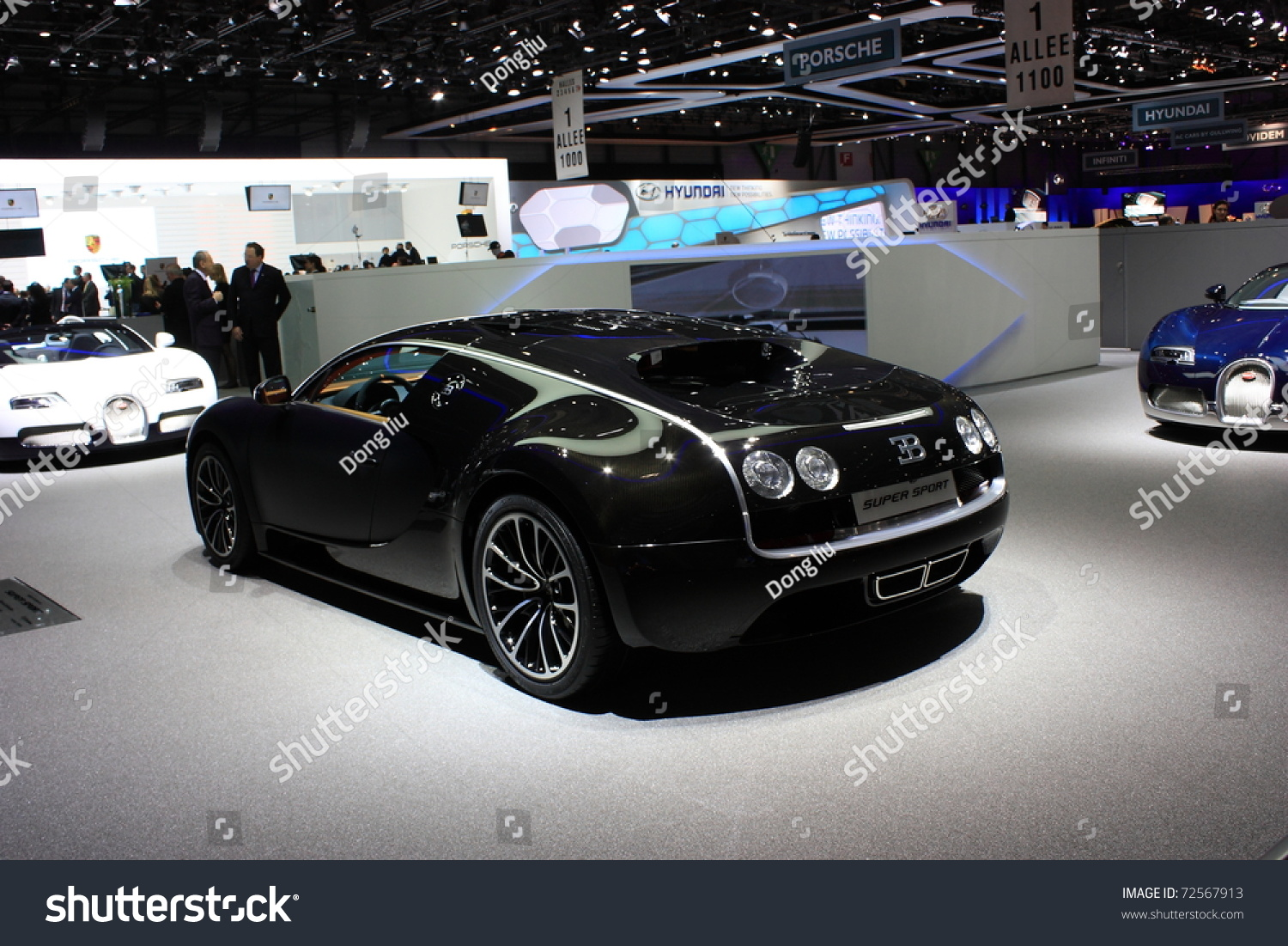 geneva switzerland march 3 a bugatti veyron super sport car on display at 81th. Black Bedroom Furniture Sets. Home Design Ideas