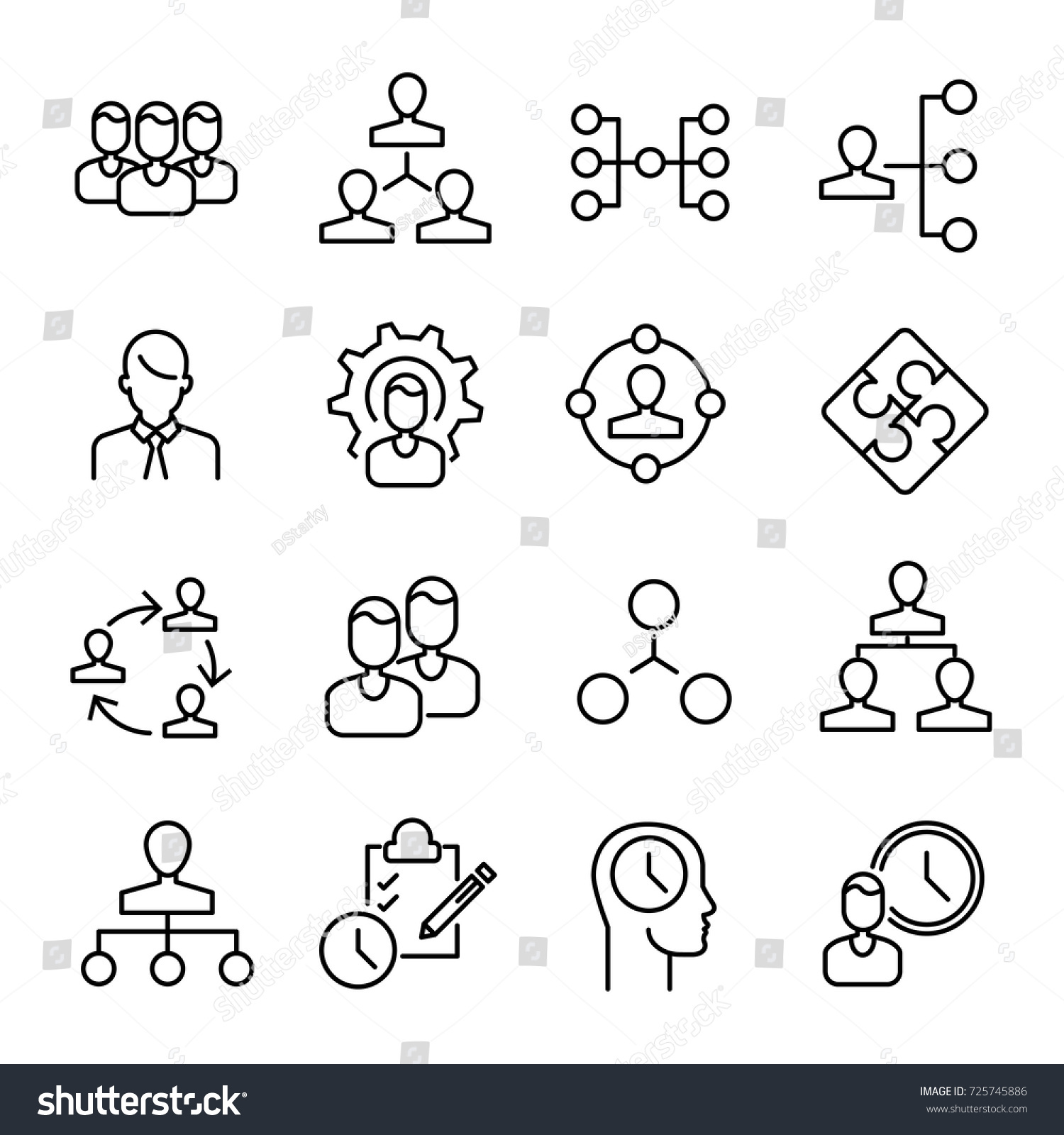 Simple collection organization related line icons stock vector simple collection of organization related line icons thin line vector set of signs for infographic buycottarizona