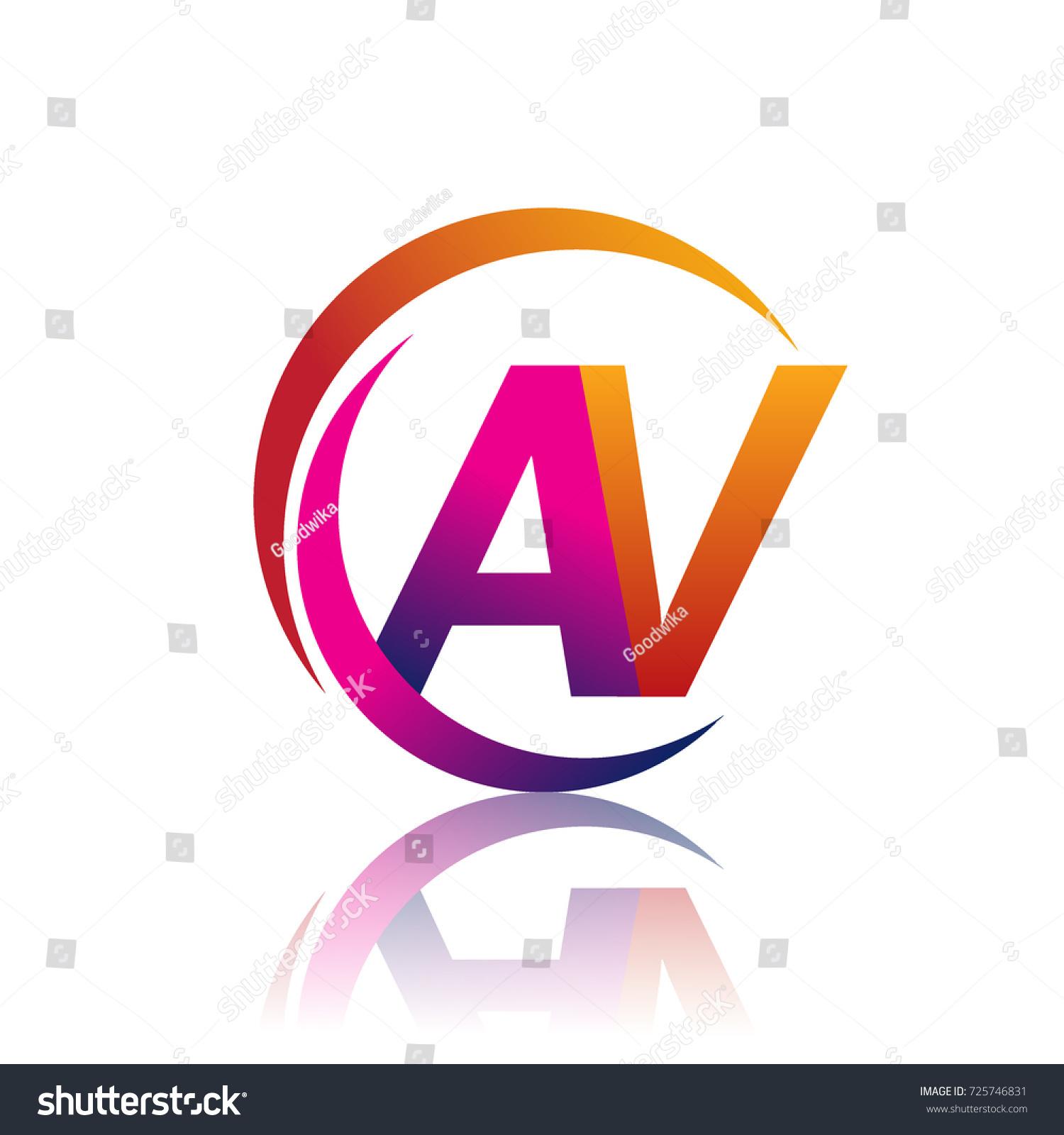 initial letter av logotype company name stock vector 725746831 rh shutterstock com