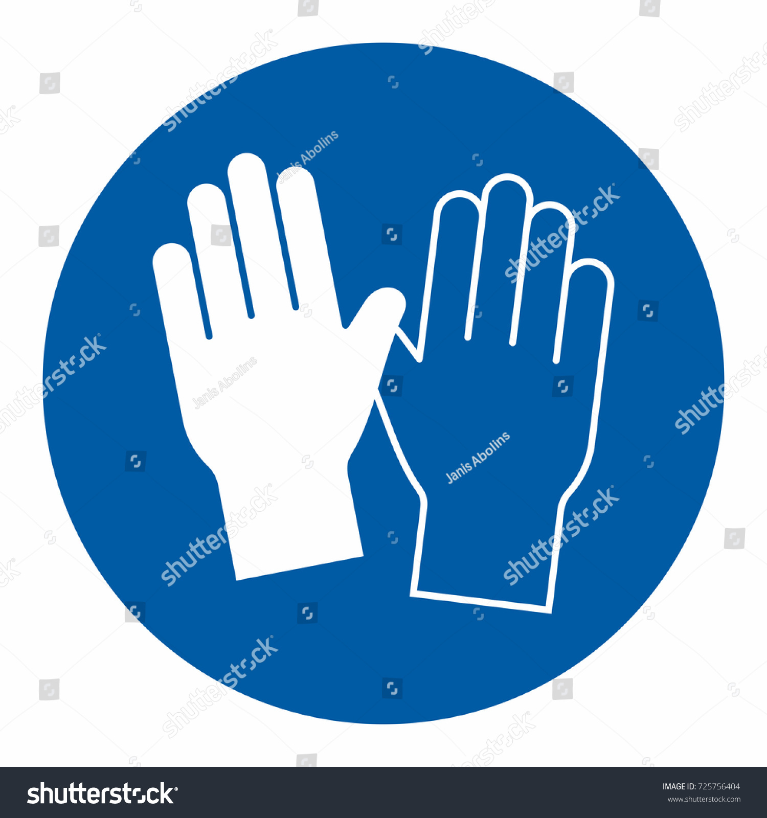 Safety sign hand protection must be stock vector 725756404 safety sign hand protection must be worn biocorpaavc