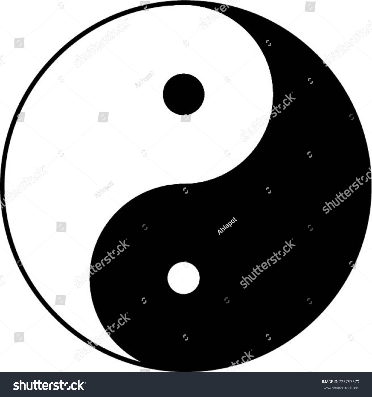 Yin Yang Small Dots Stock Vector Royalty Free 725757679 Shutterstock