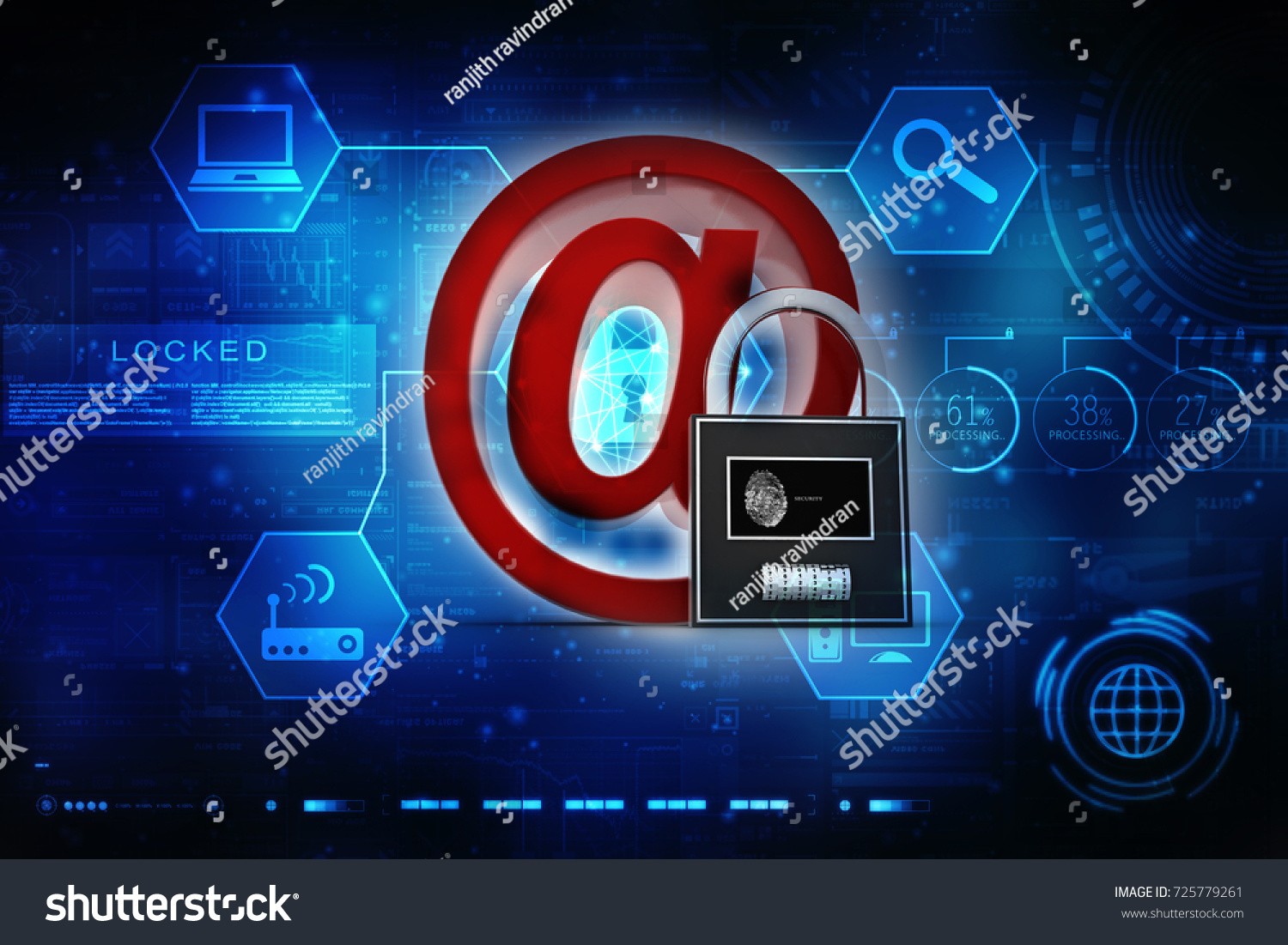 3d rendering email symbol lock internet stock illustration 3d rendering e mail symbol with lock internet security concept biocorpaavc