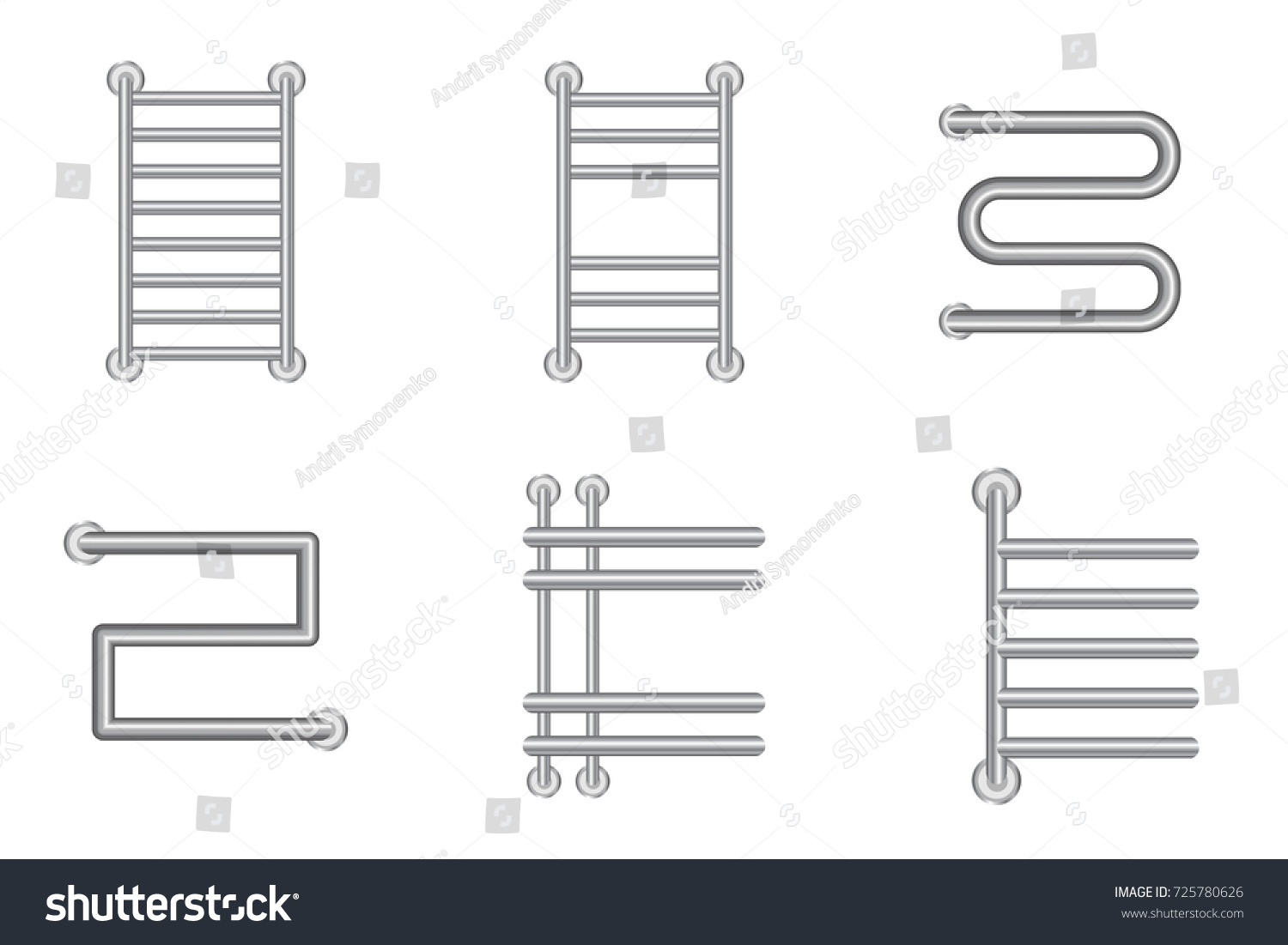 stock vector realistic heated towel rail or heating battery radiator icons set vector illustration 725780626 realistic heated towel rail heating battery stock vector 725780626 heated towel rail wiring diagram at gsmportal.co