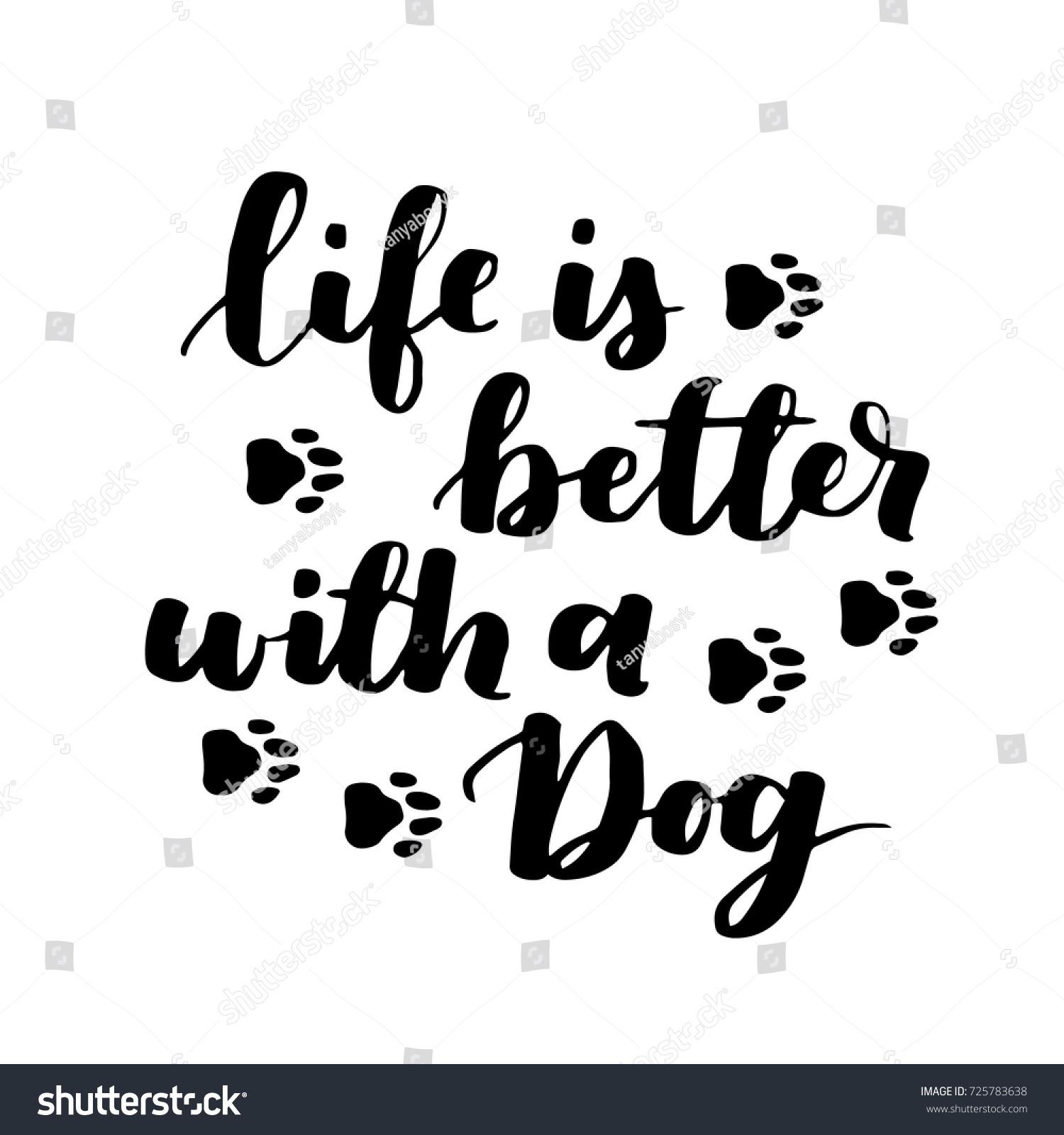 Adoption Quotes Dog Adoption Hand Written Lettering Brush Stock Vector 725783638