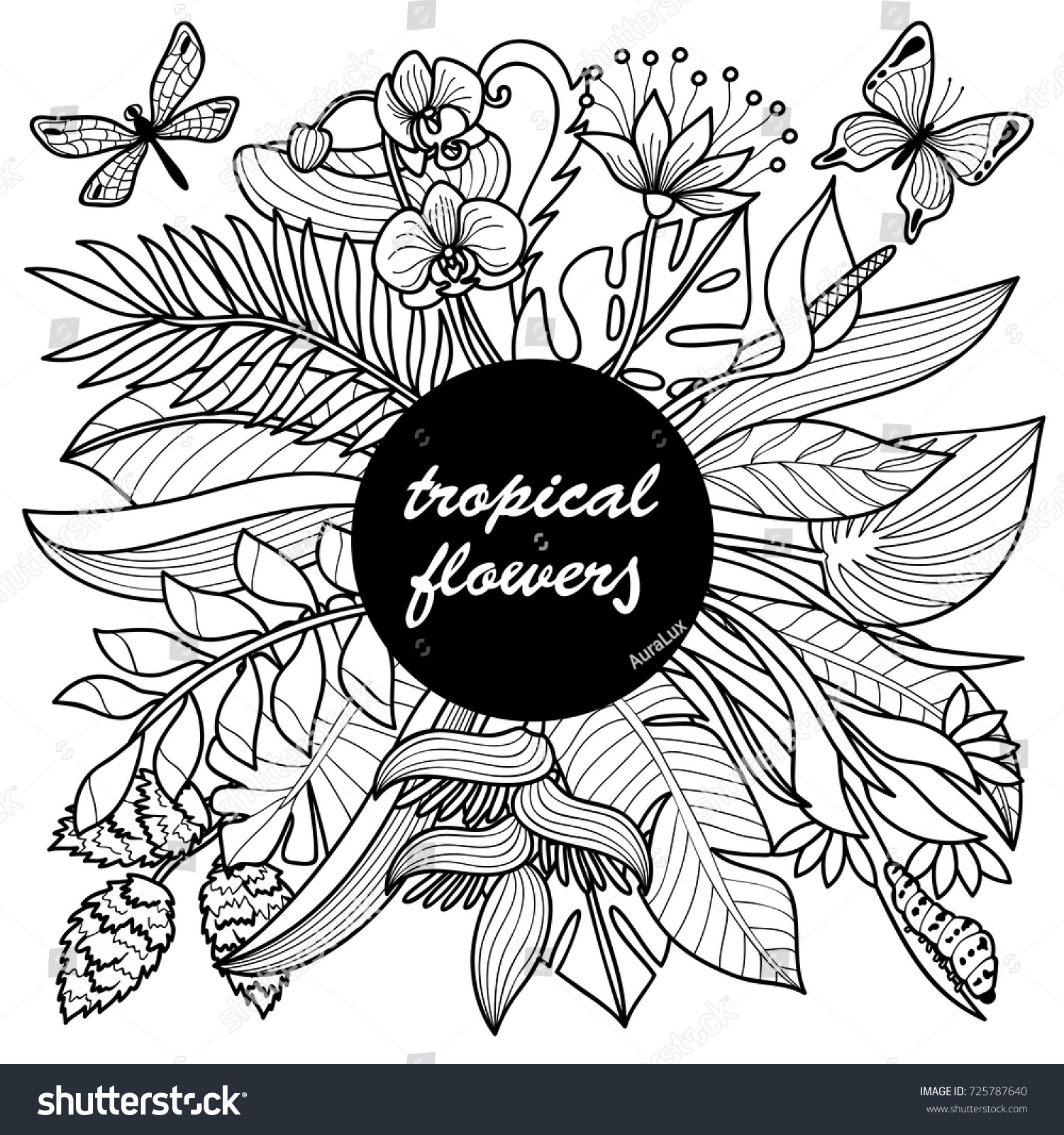 32 Tropical Flowers Coloring Pages Free Printable Coloring Pages