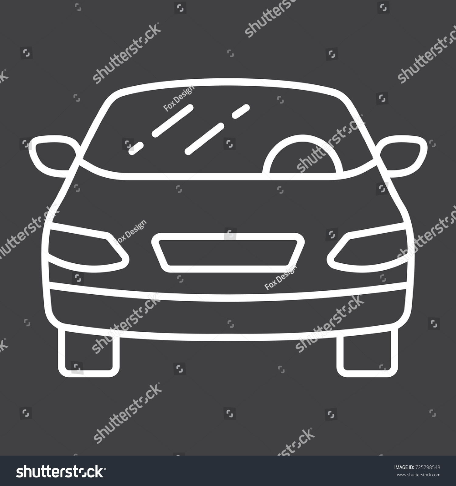 Car Line Icon Transport Automobile Sedan Stock Vector - Best automobile graphics and patterns