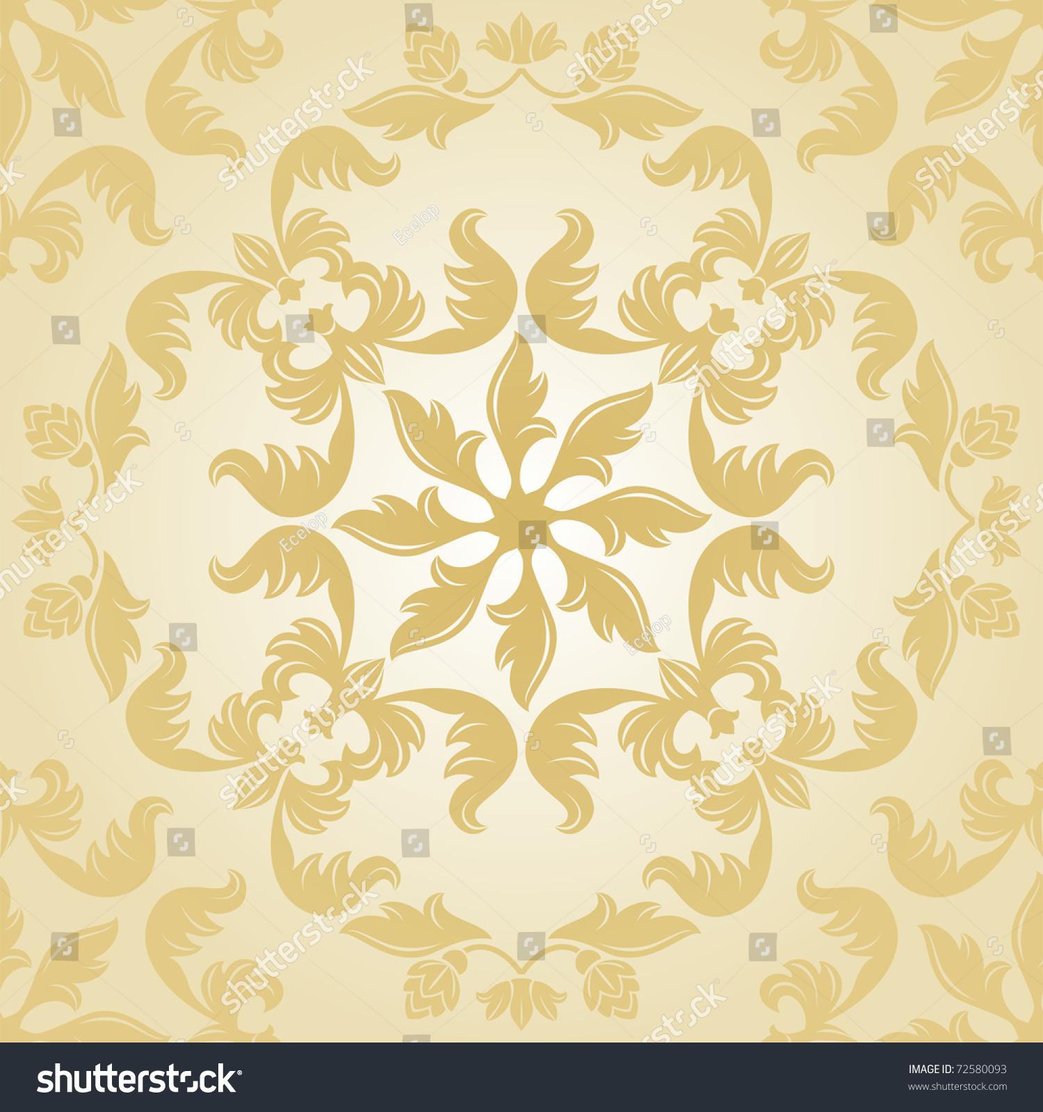 Set Floral Background, Cream Stock Photo 72580093