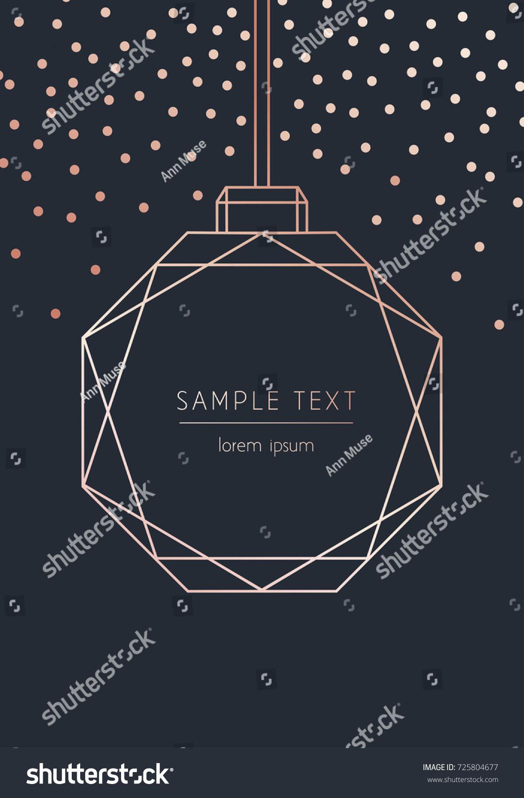 Vector Modern Template Christmas Card Abstract Stock Vector (2018 ...