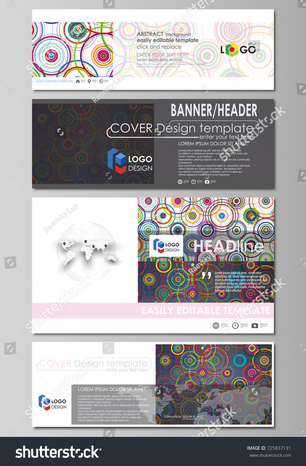 Social Media Email Headers Modern Banners Stock Vector 725837131 ...